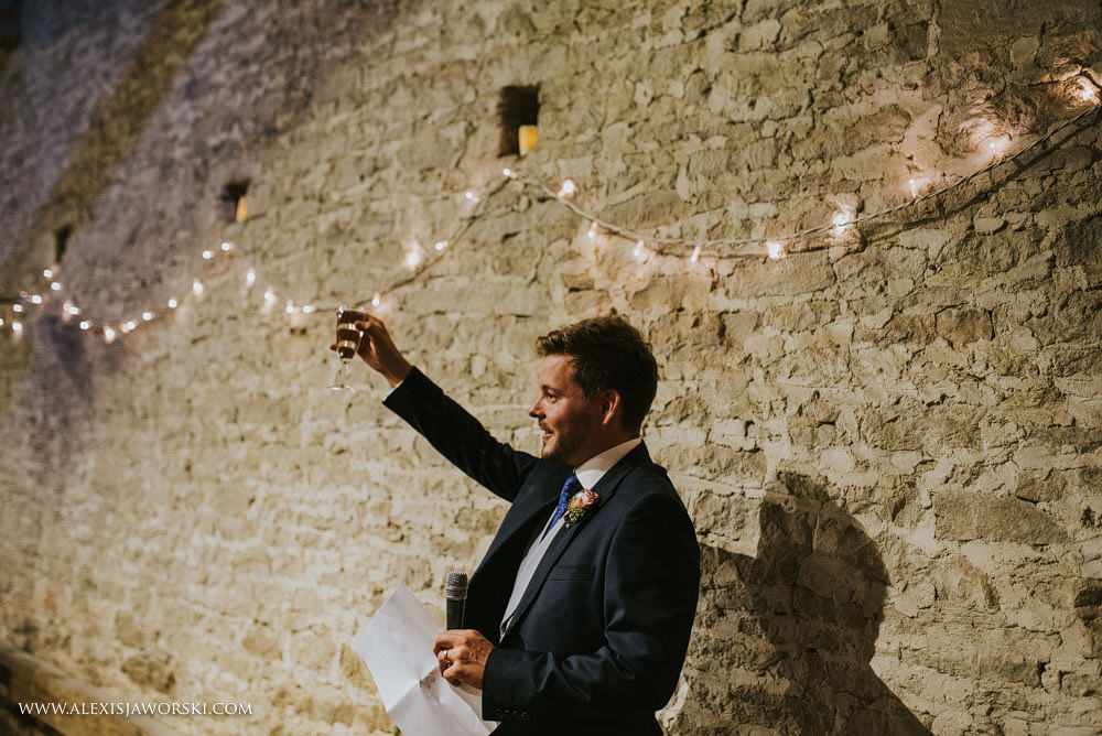 groom toasting his guests
