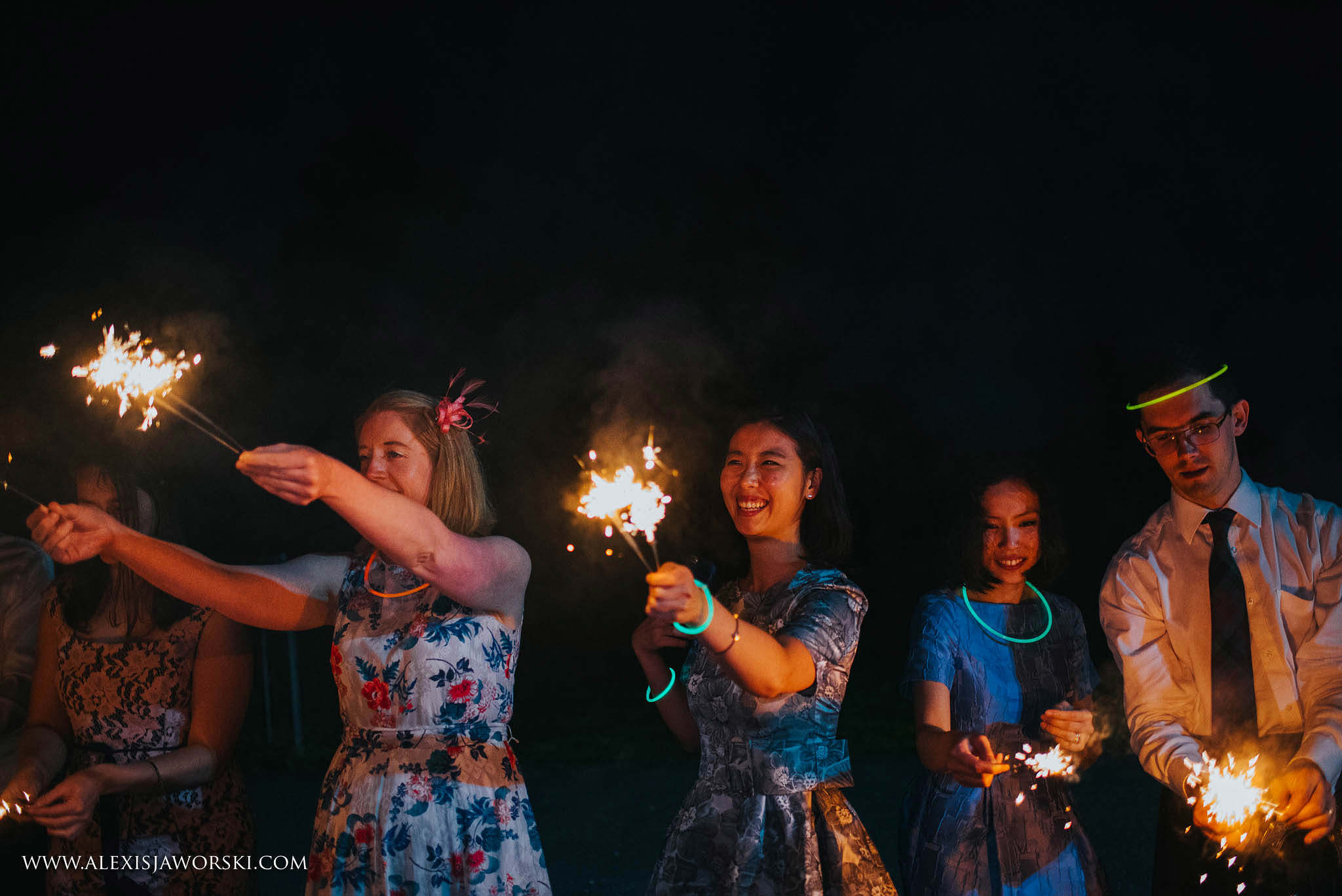 Guests with sparklers