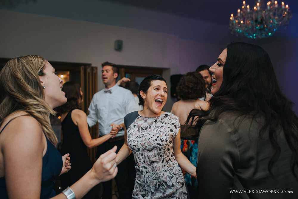 friends having a great time on the dance-floor