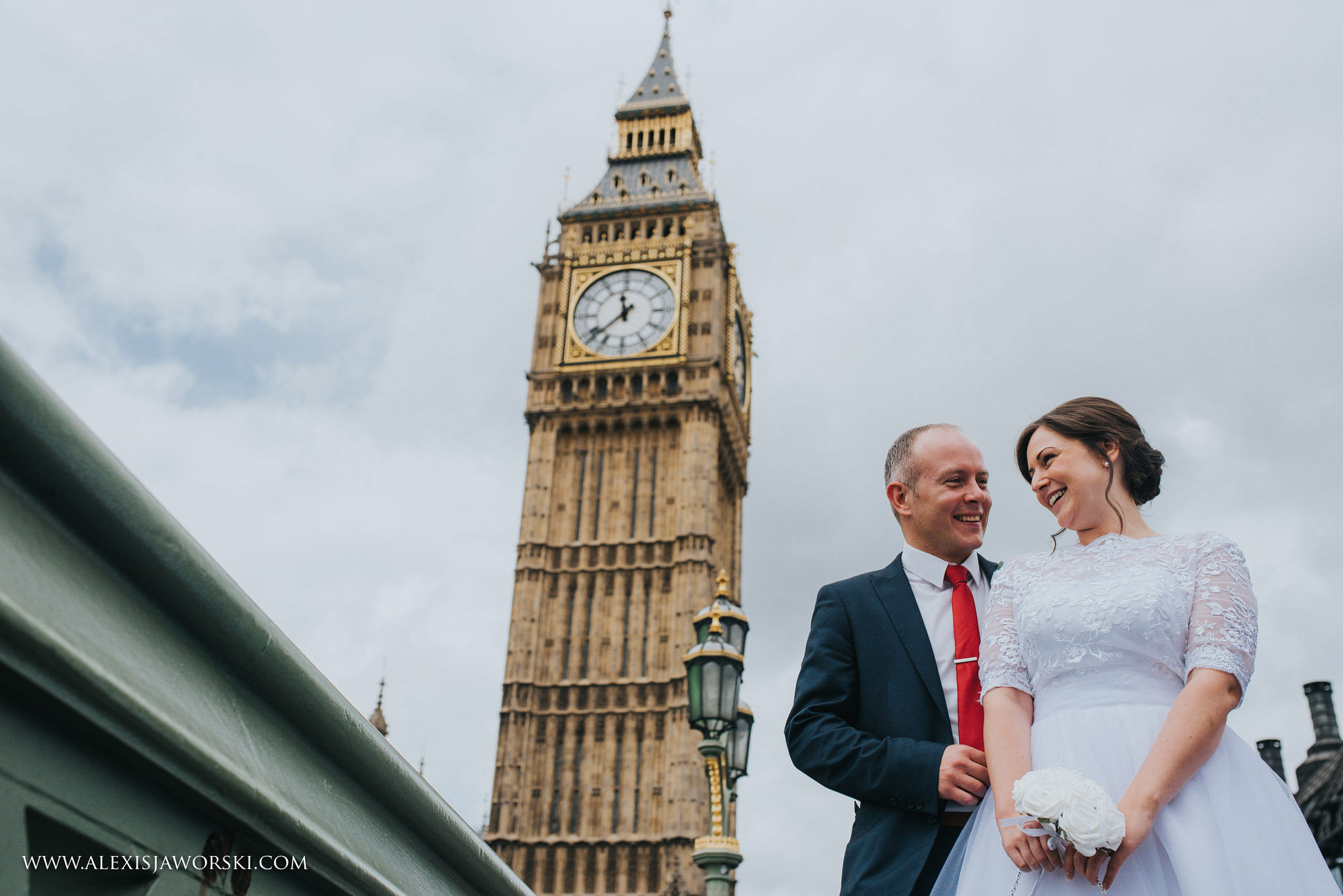 London wedding portrait by Big Ben