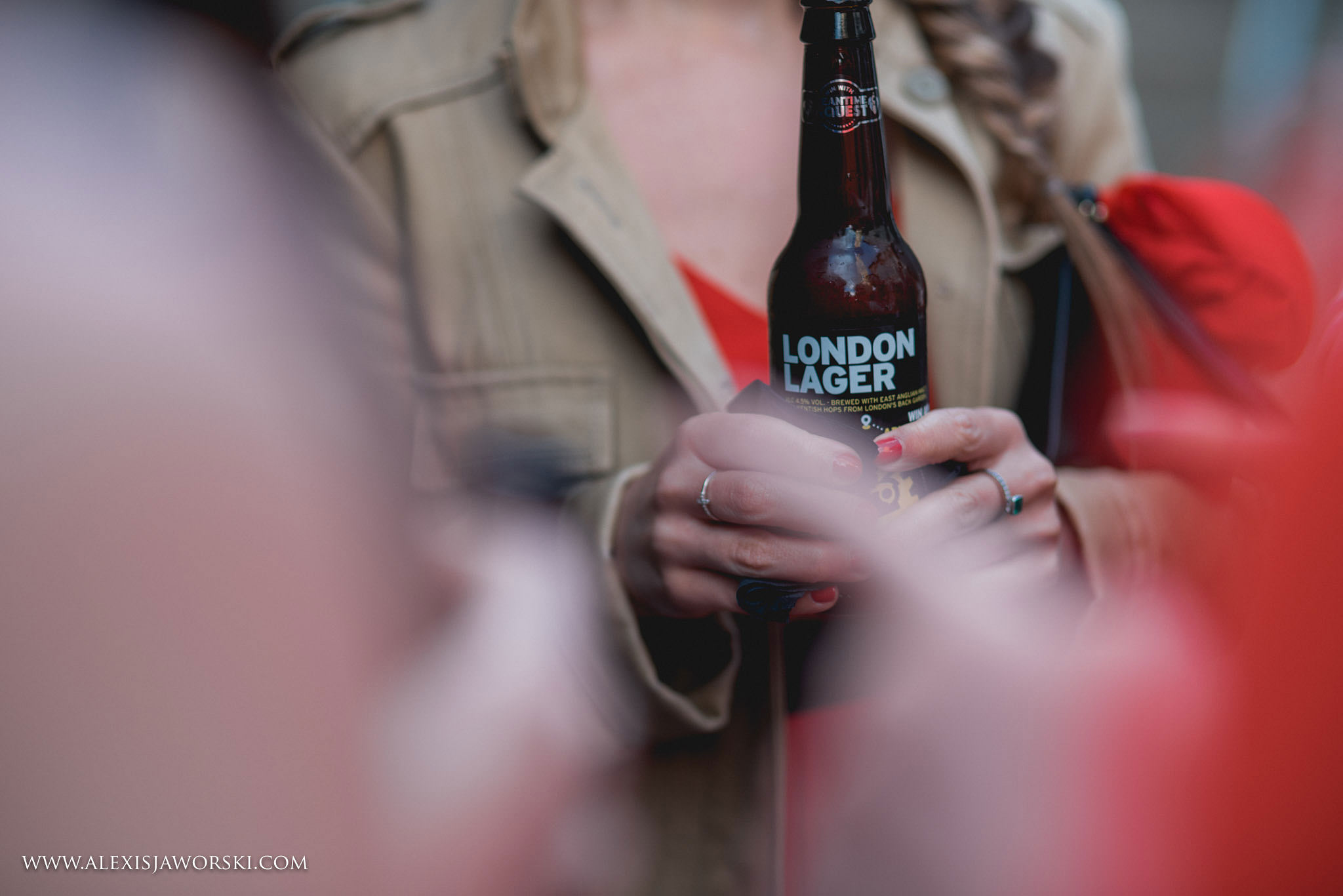 Guest drinking london lager