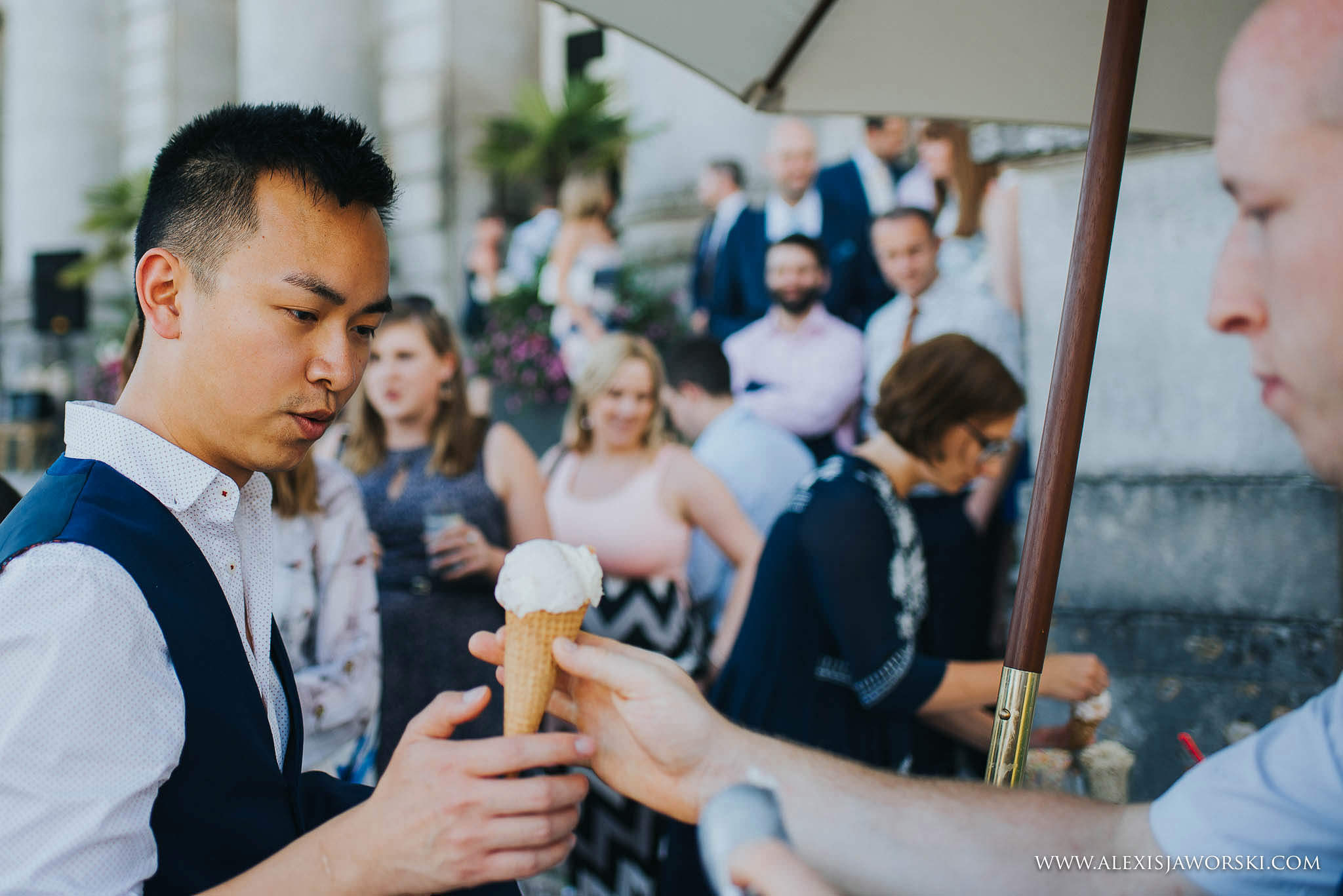 guests having ice cream