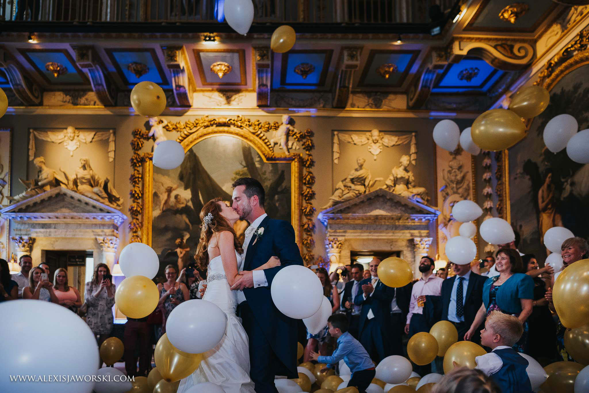 Balloons released during first dance