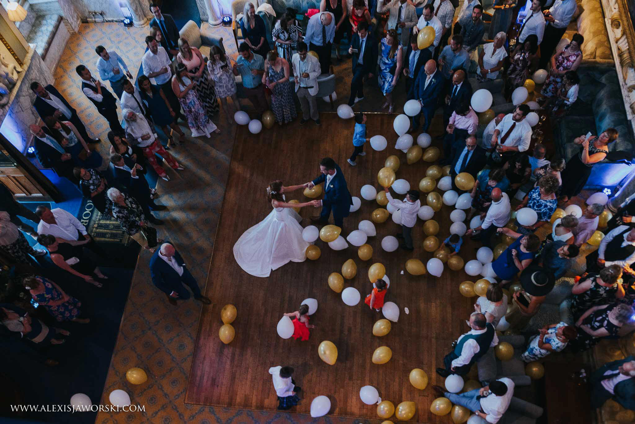 Aerial view of the first dance