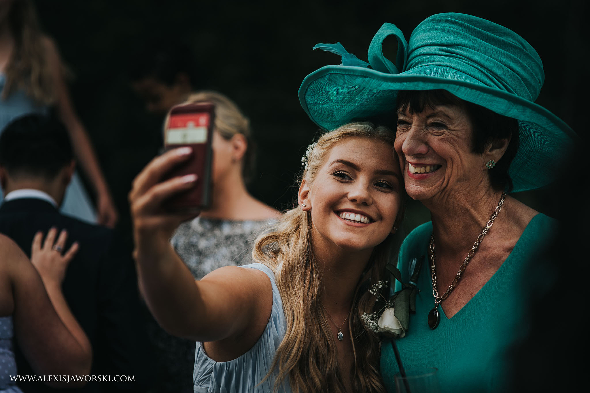 sister of the bride and grand-ma selfie