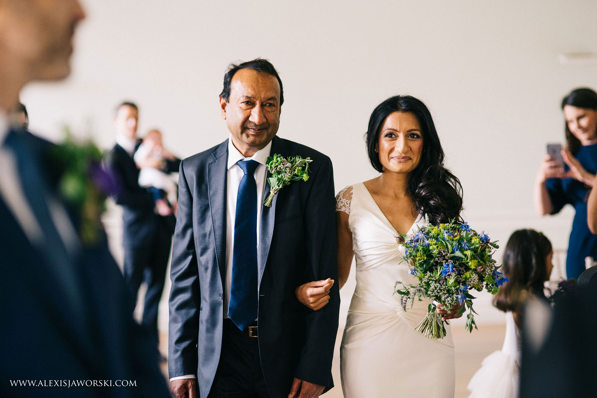 bride making her entrance with her dad