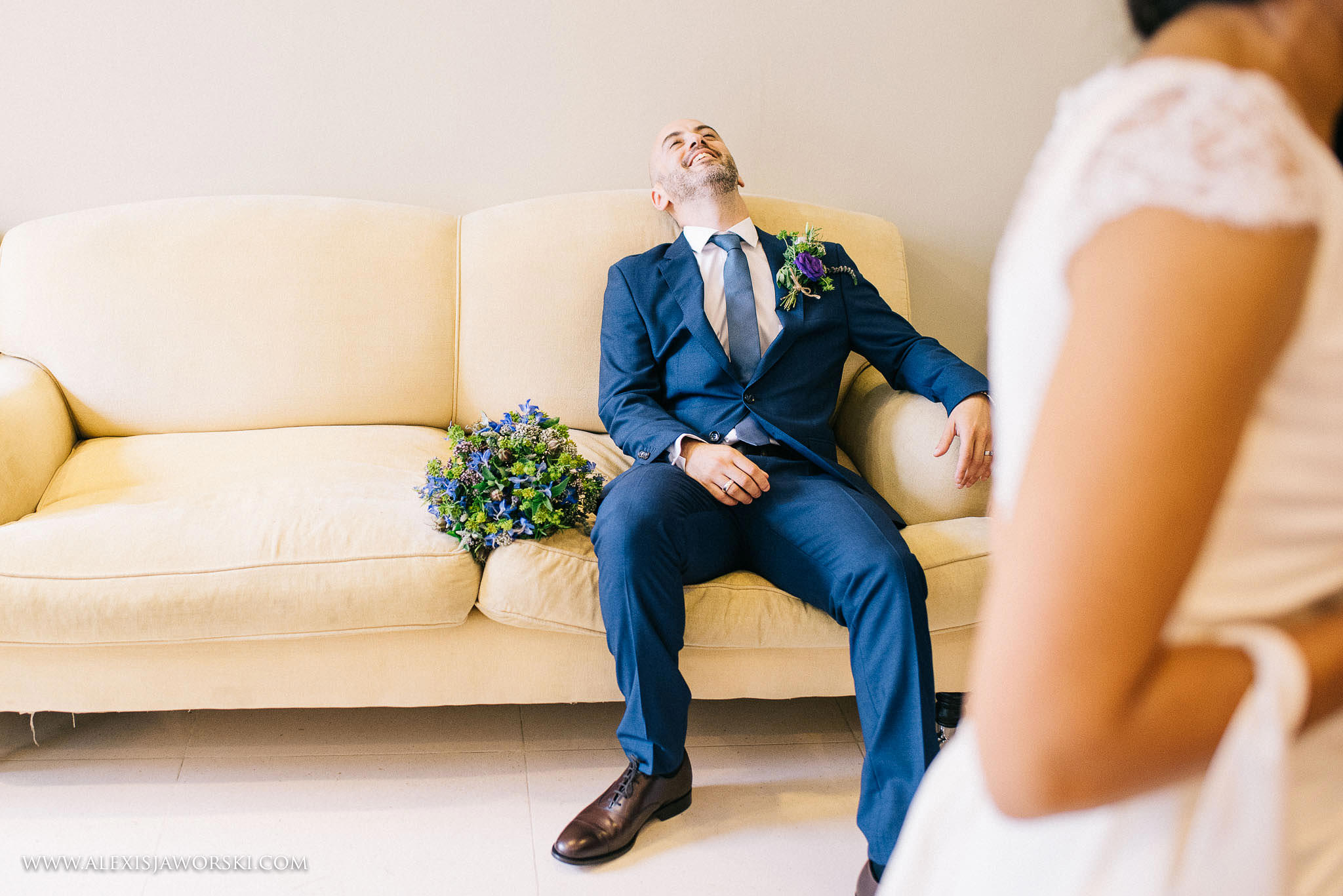 groom is exhausted