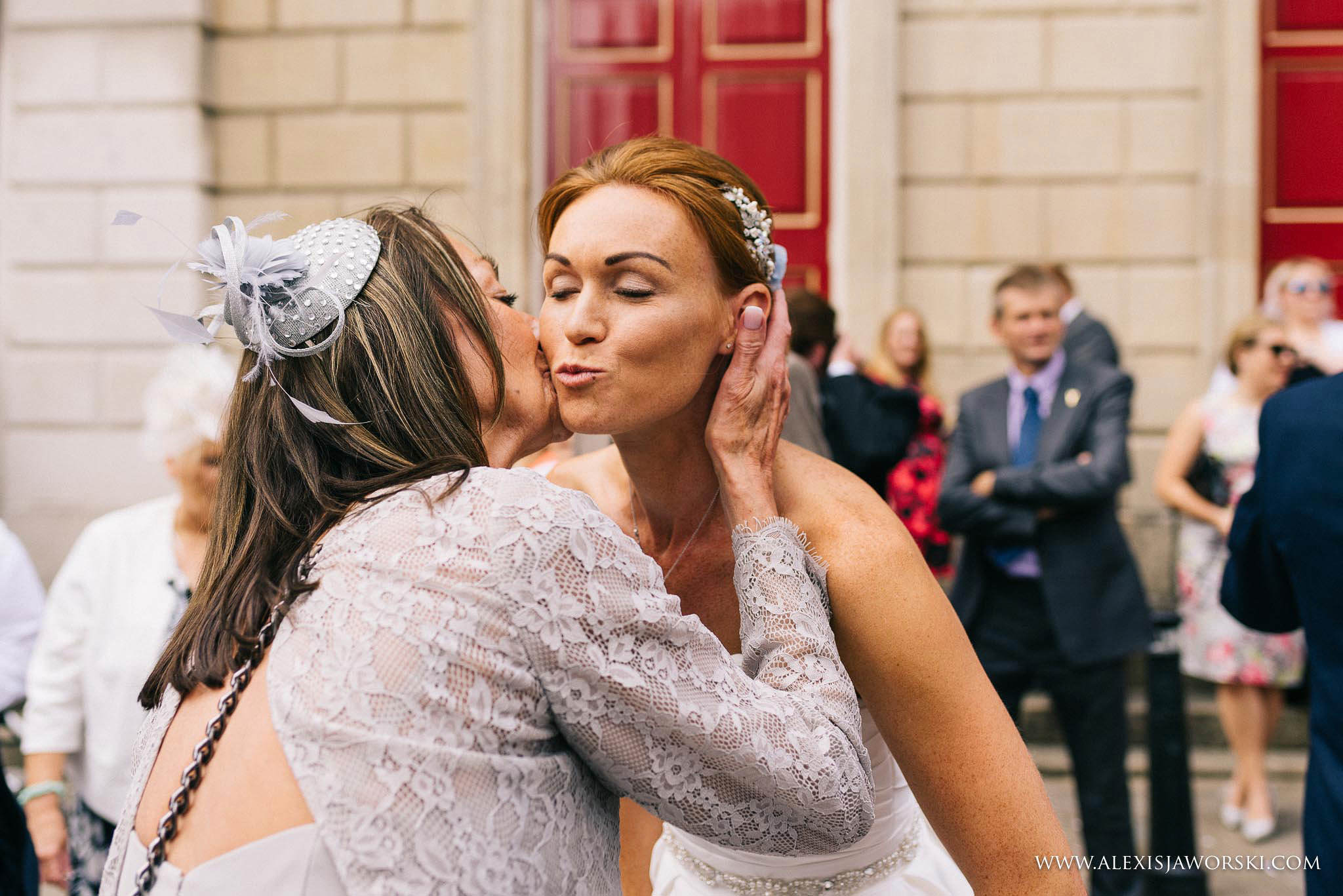 bride being congratualted by mother of the groom