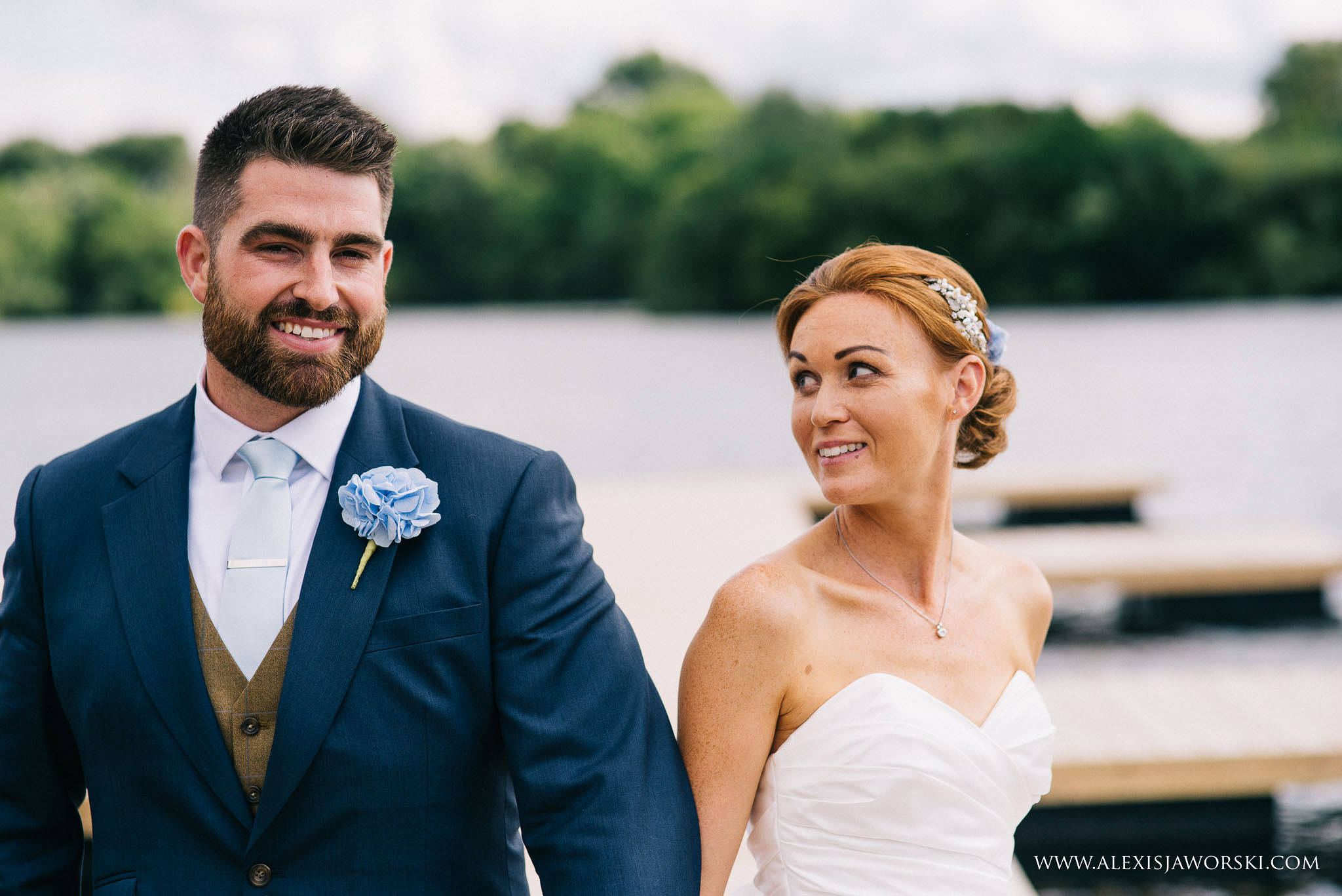 bride and groom relaxed portrait