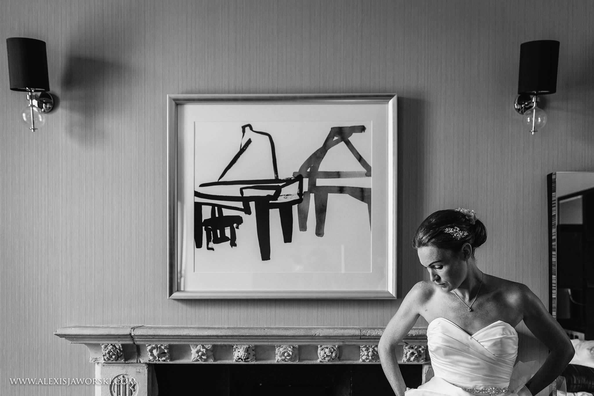 casual portrait of bride