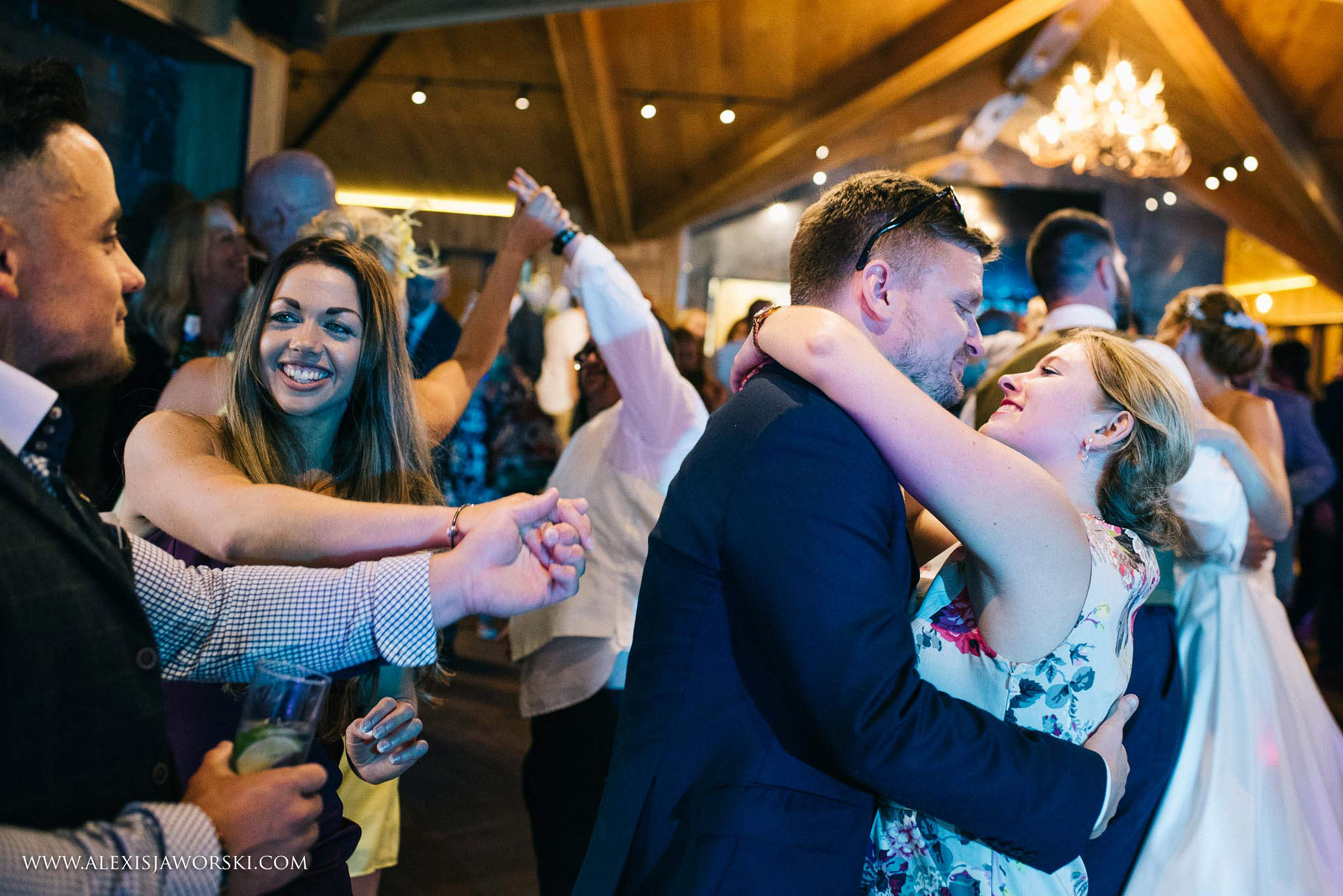 guests join during the first dance