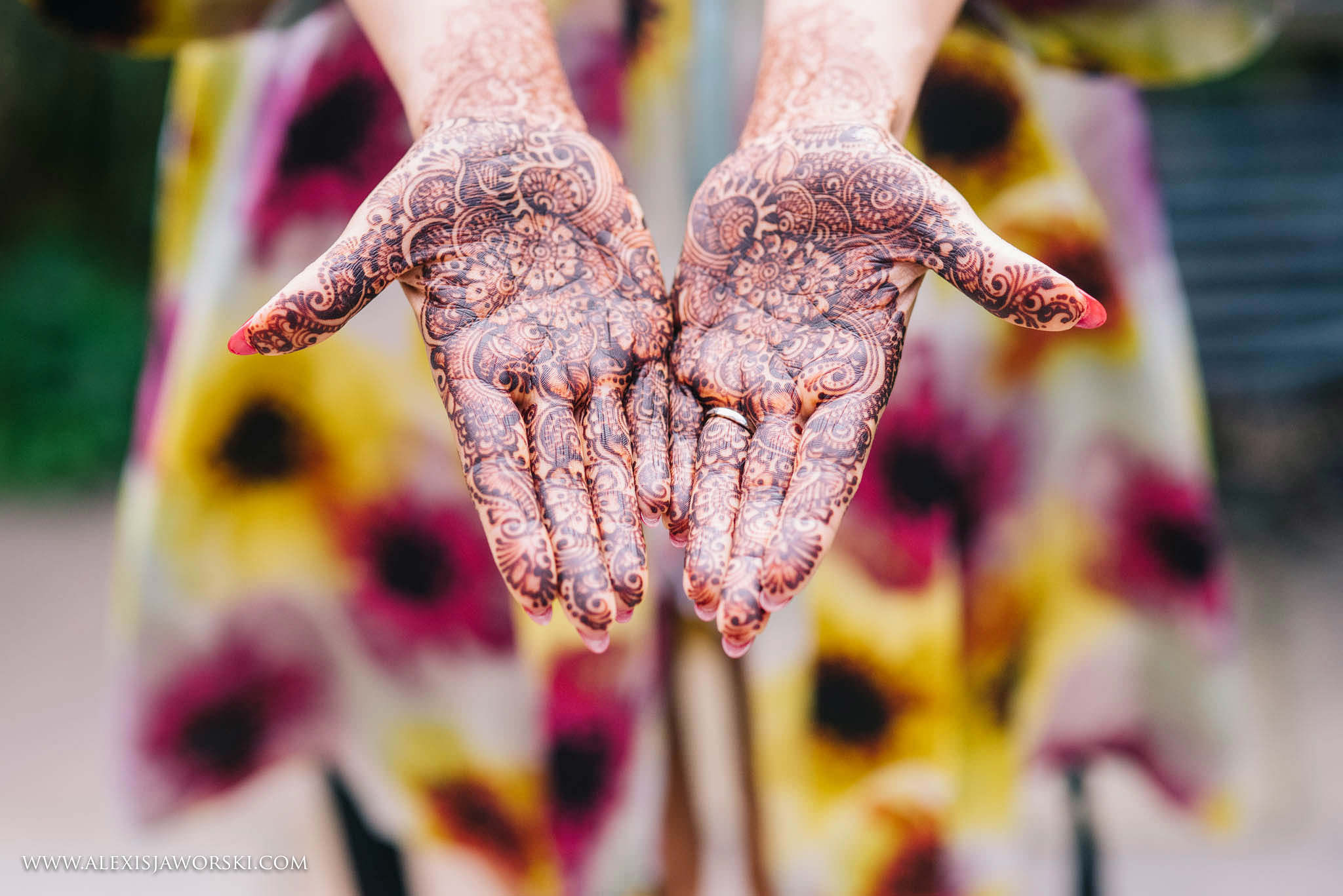 Henna on bride's hand