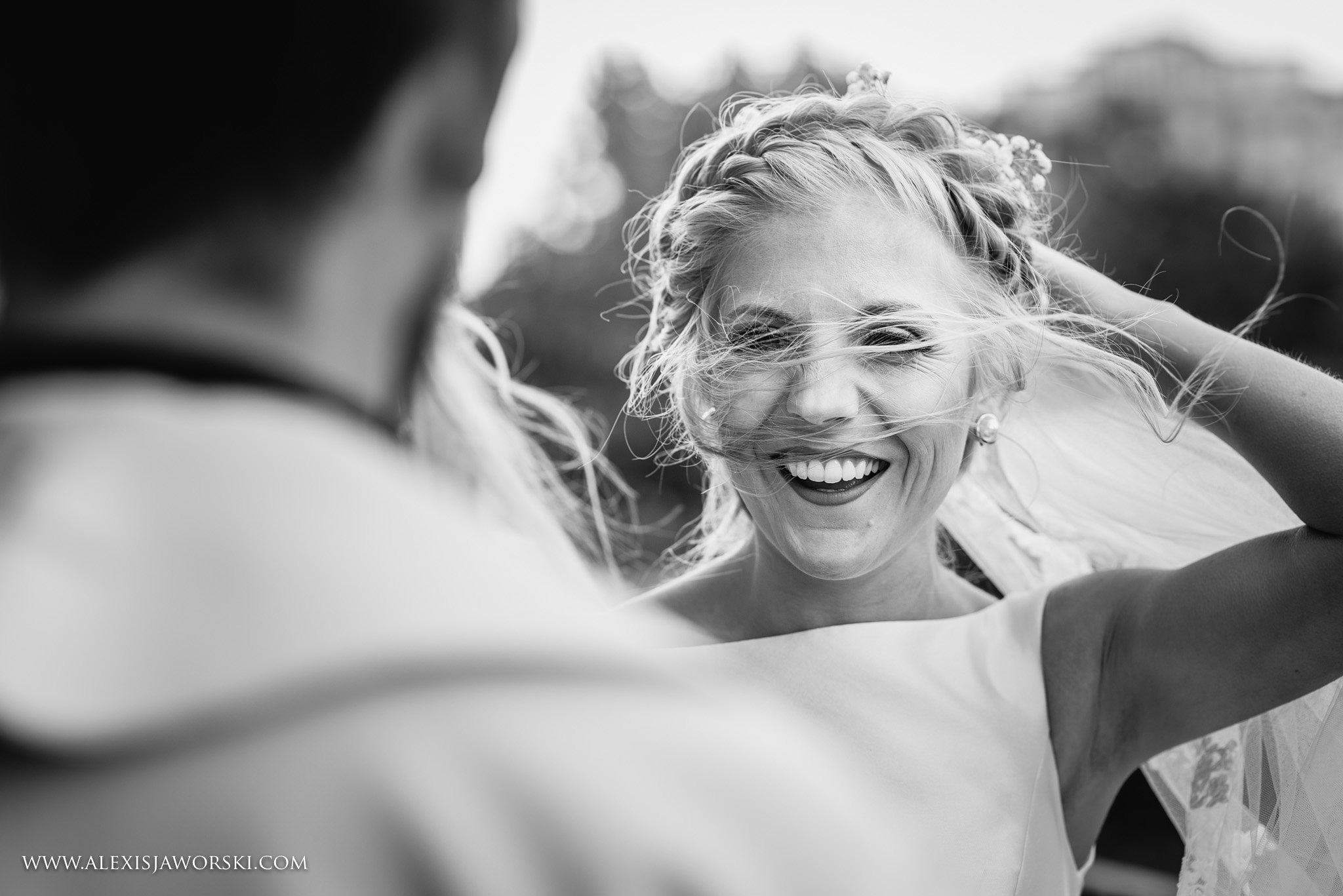 bride windswept