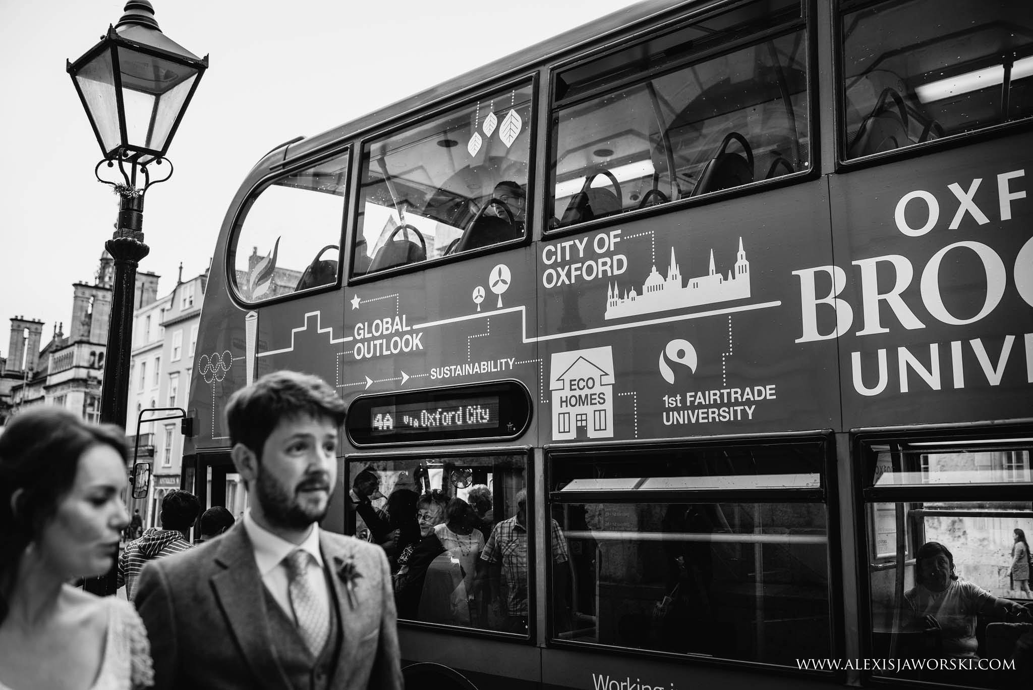 oxford wedding bus