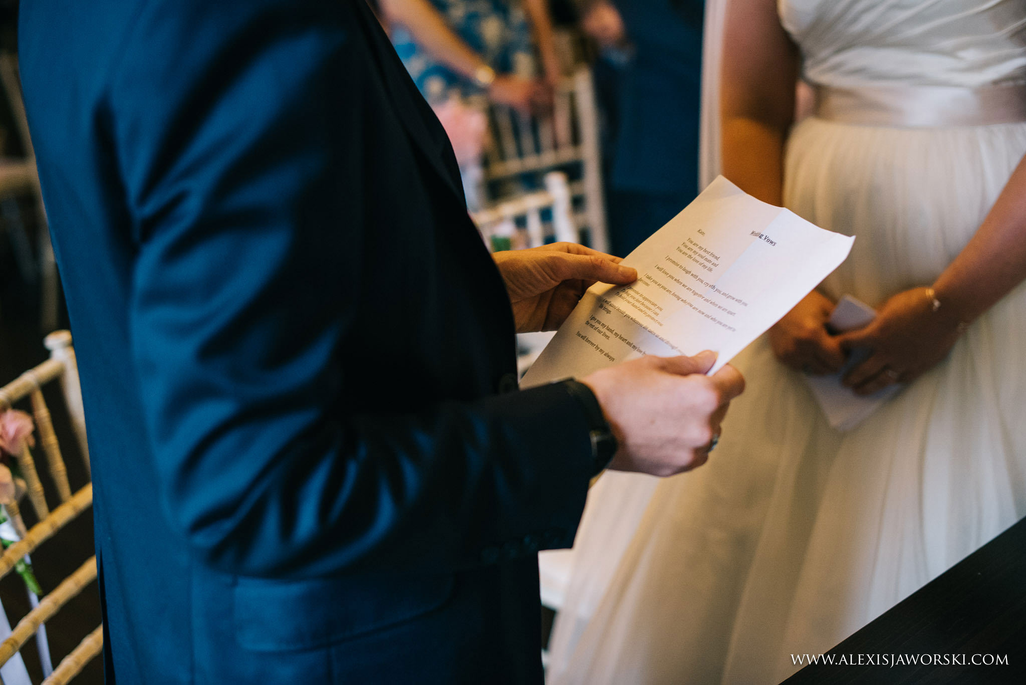 reading the wedding vows