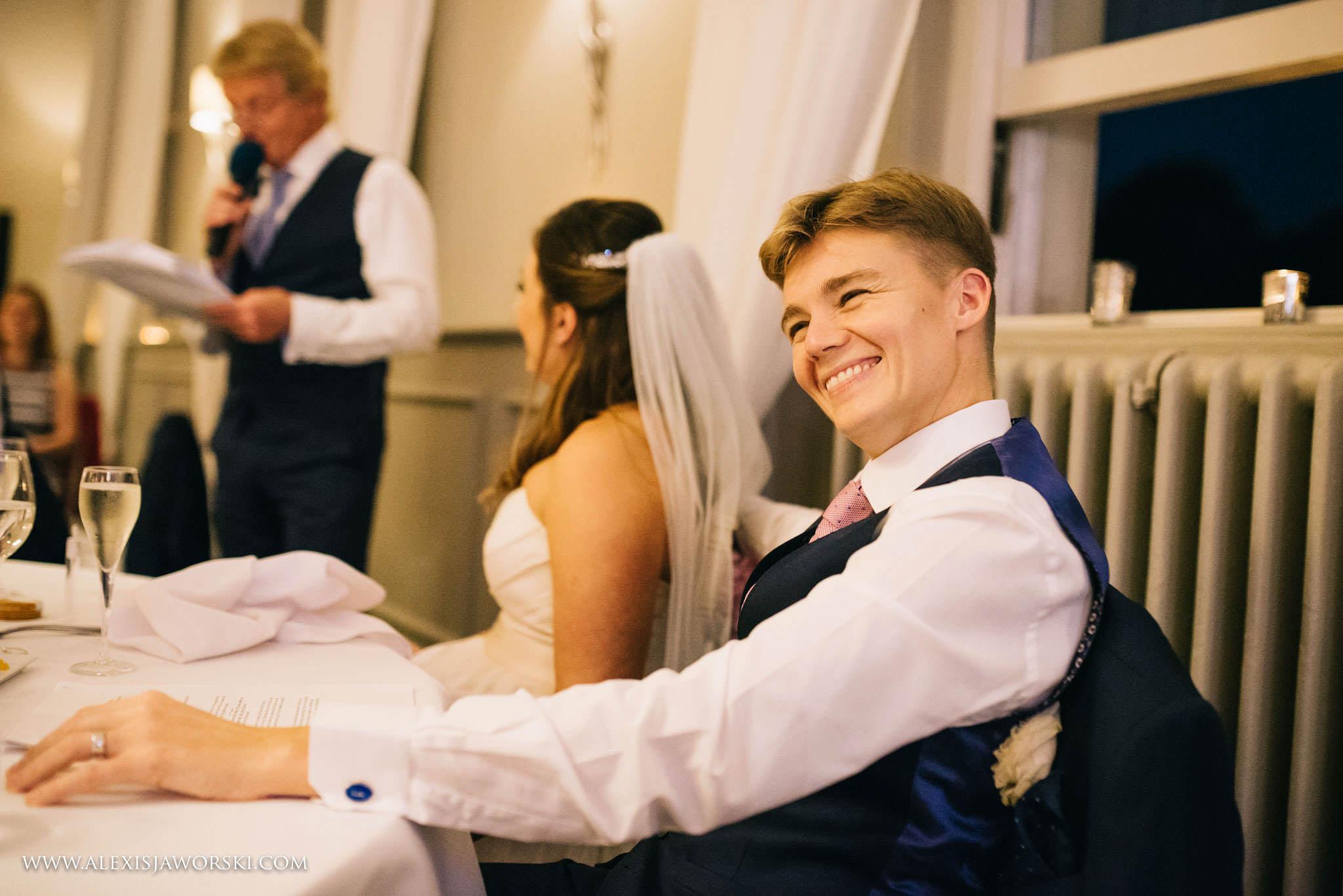 groom listening to speech