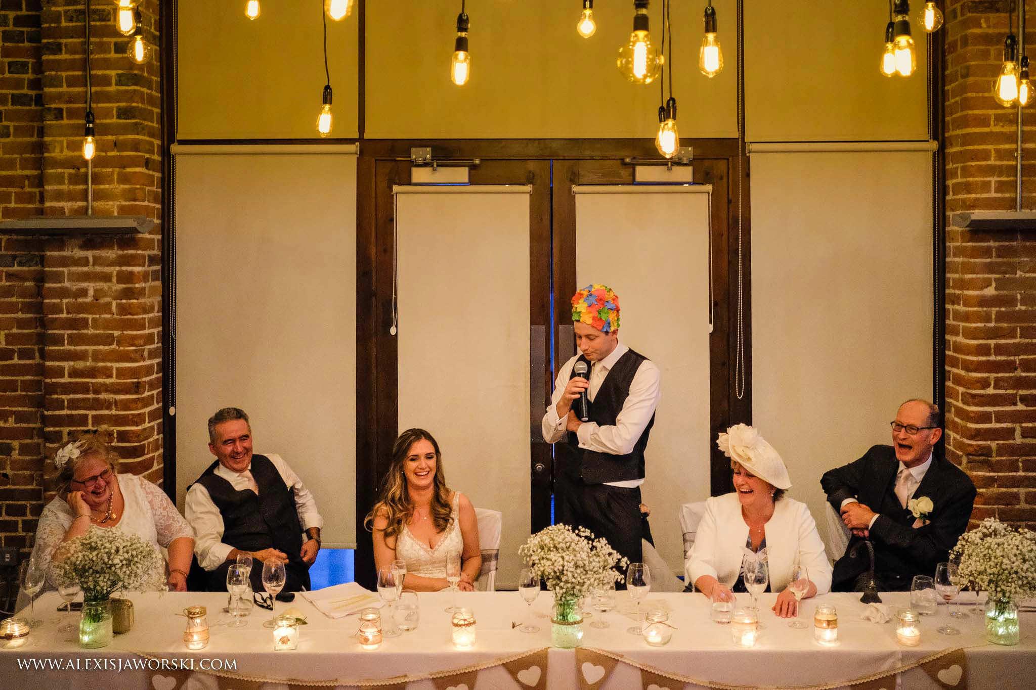 The groom's speech!
