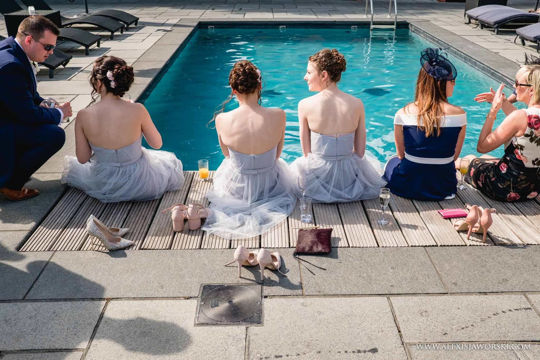 guests by the pool