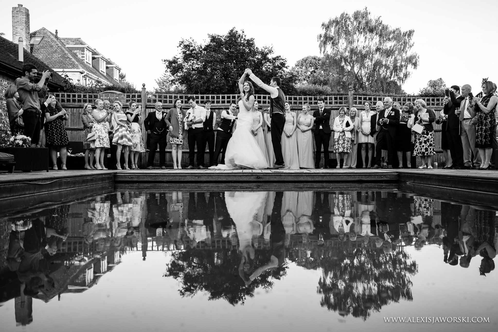 first dance by the pool
