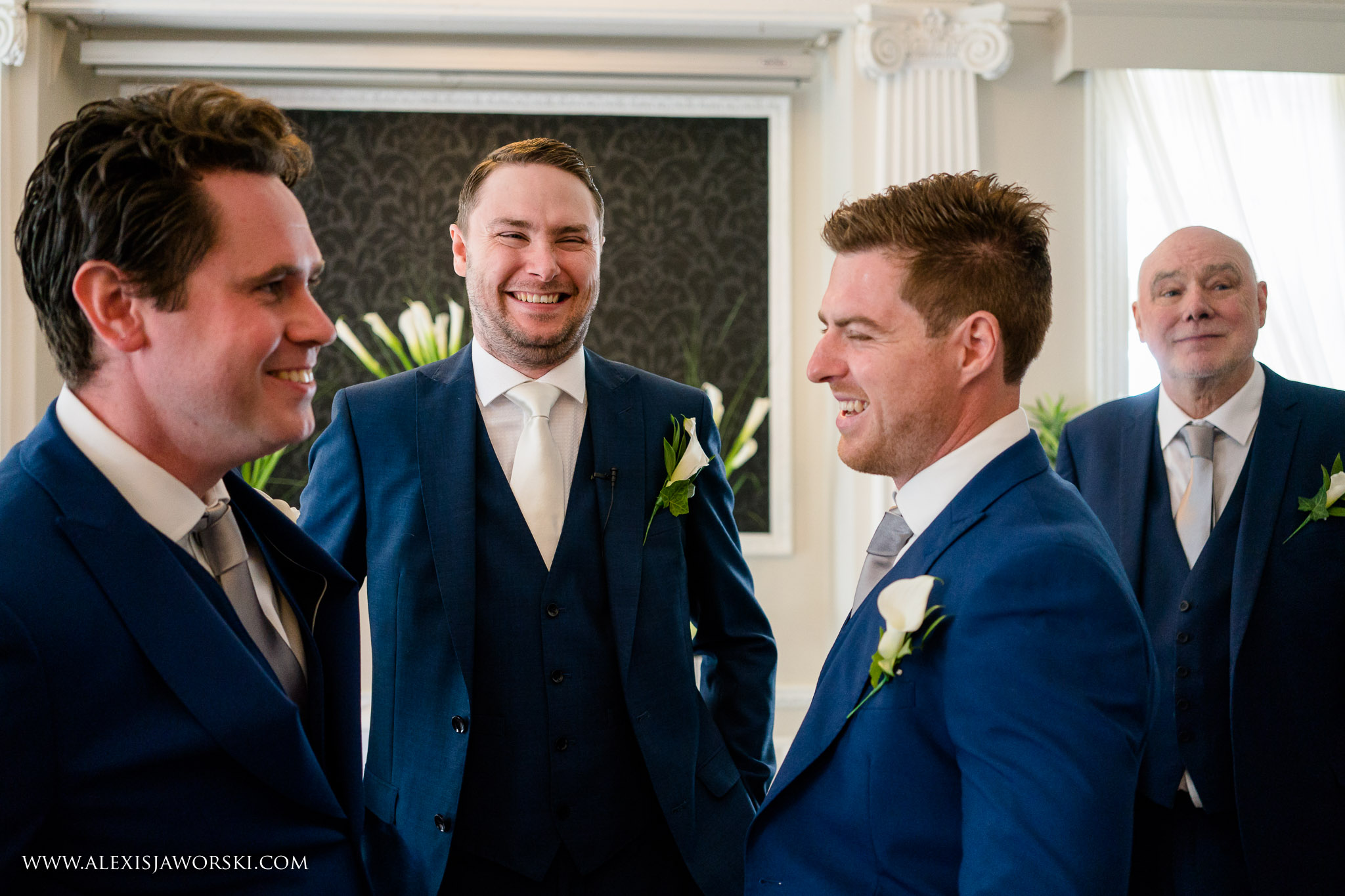 groom and guests
