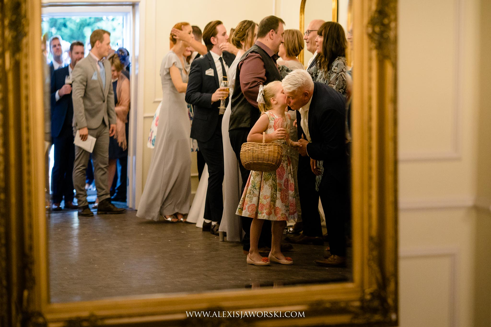 guests going to the wedding breakfast