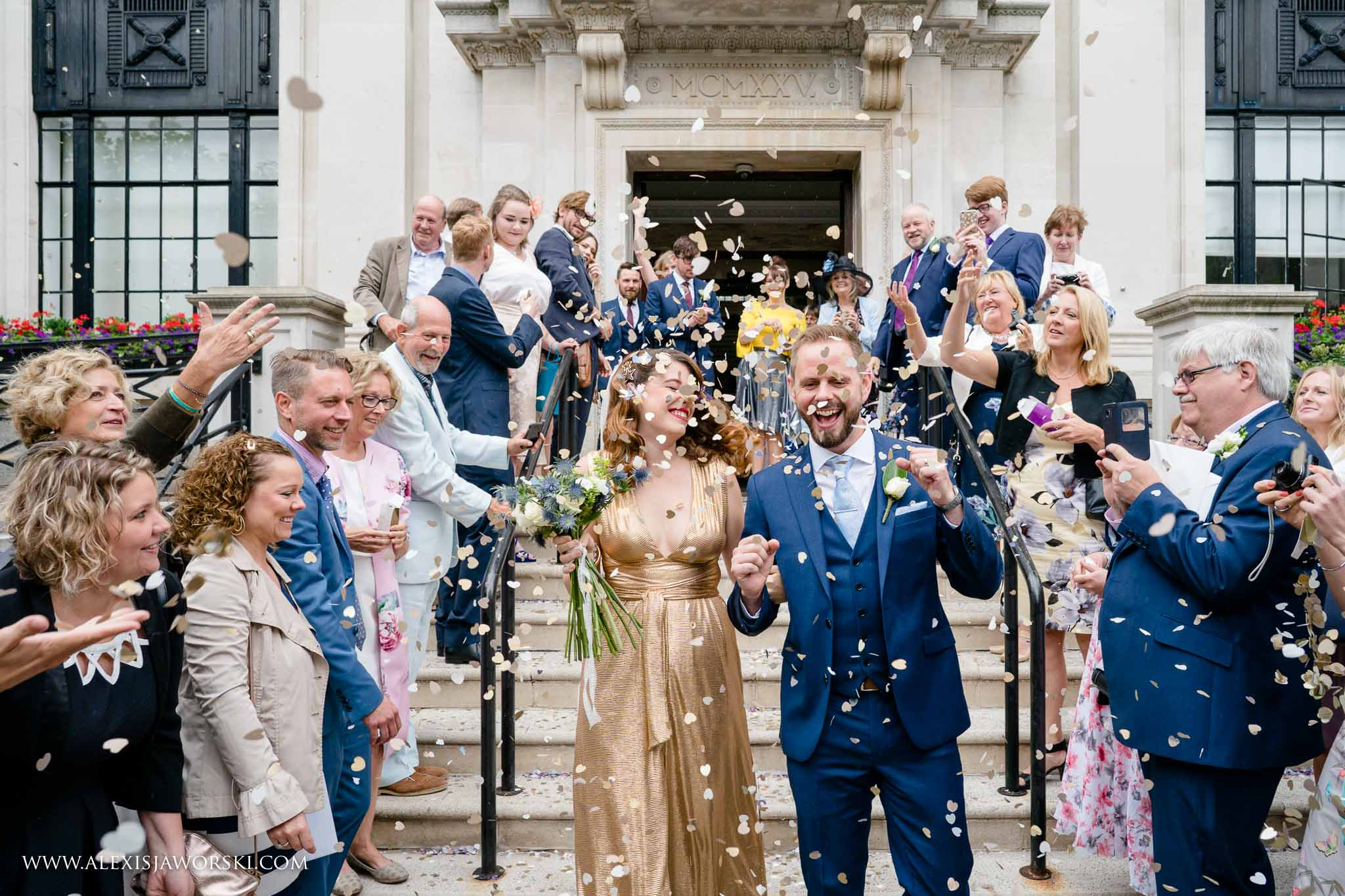 confetti throw at Islington Town Hall