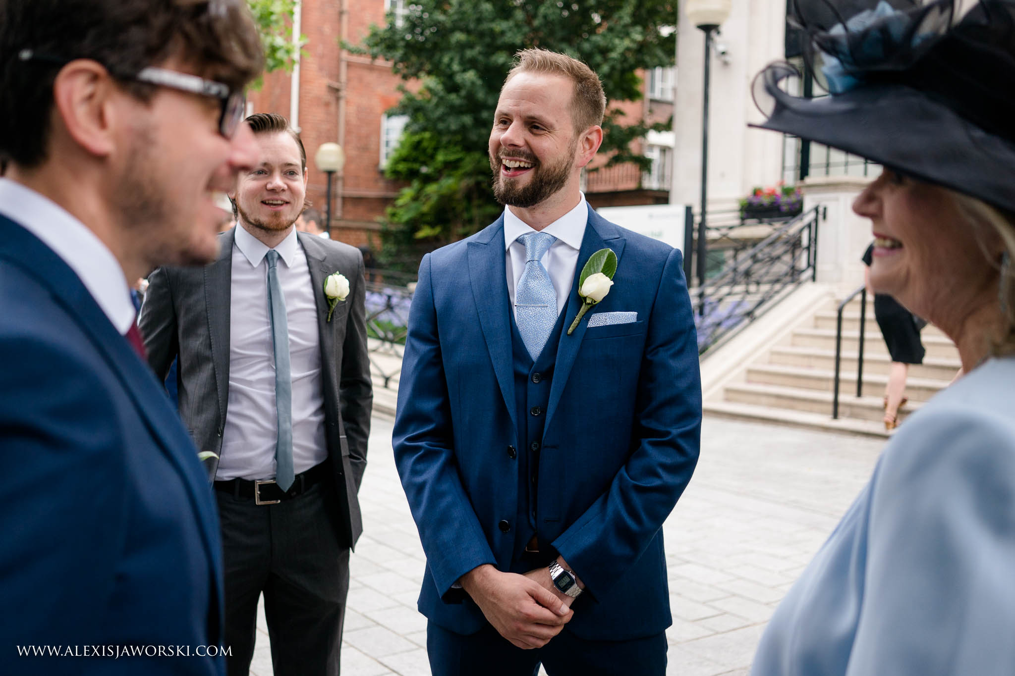 the groom before ceremony
