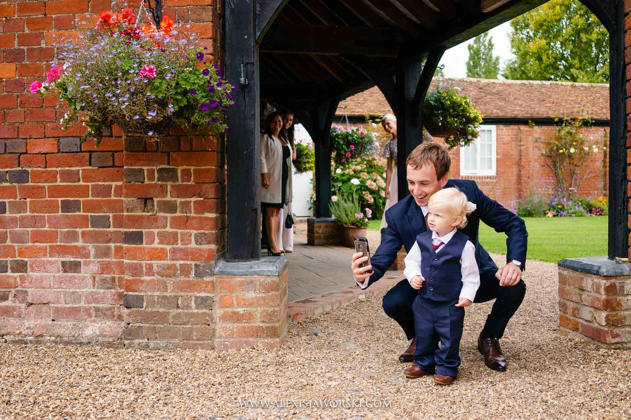 Selfie with groom and nephew
