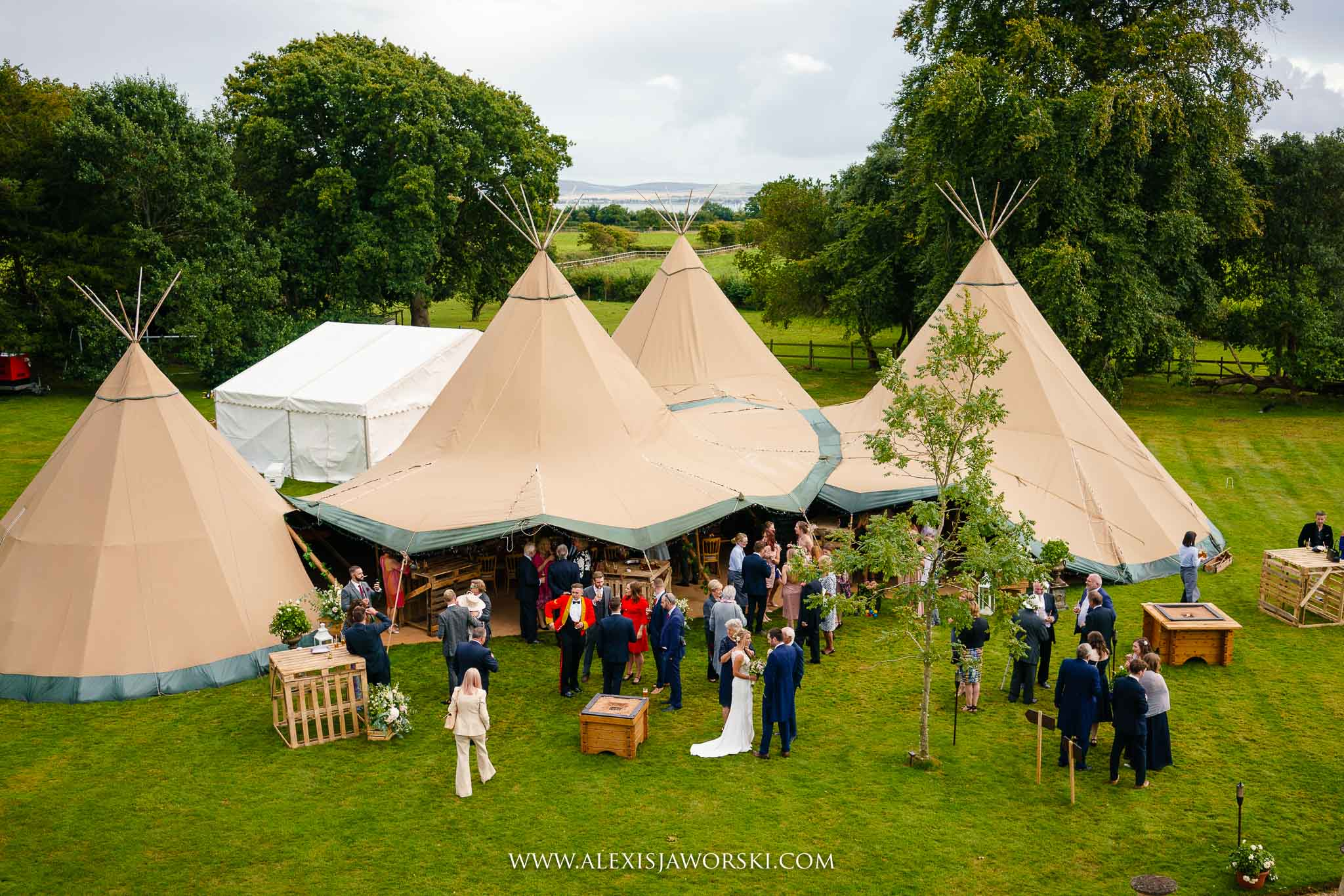 Aerial shot of Tipi