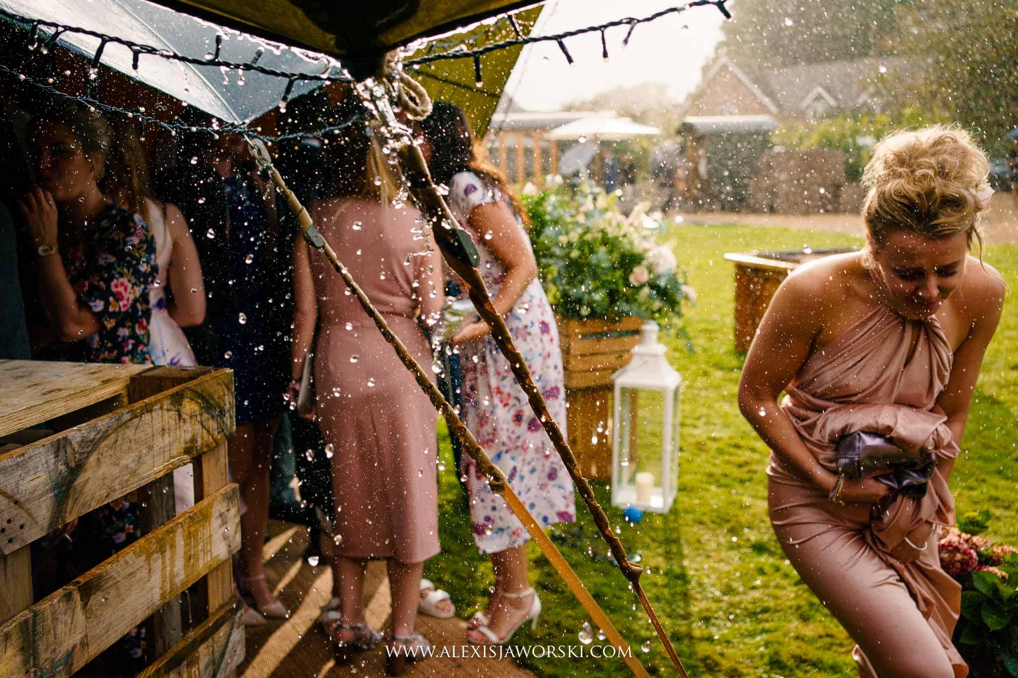 rain at the wedding
