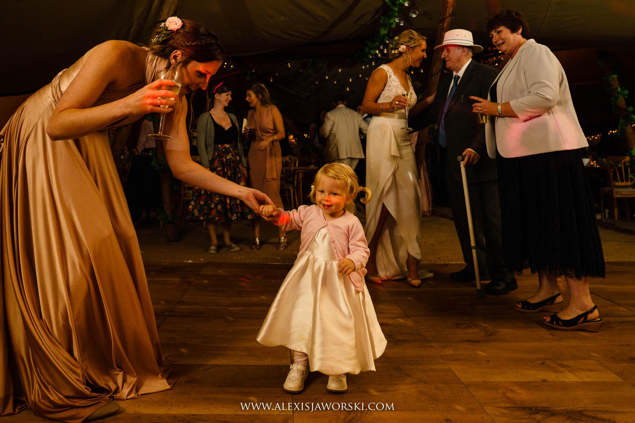 gathering onto the dance floor