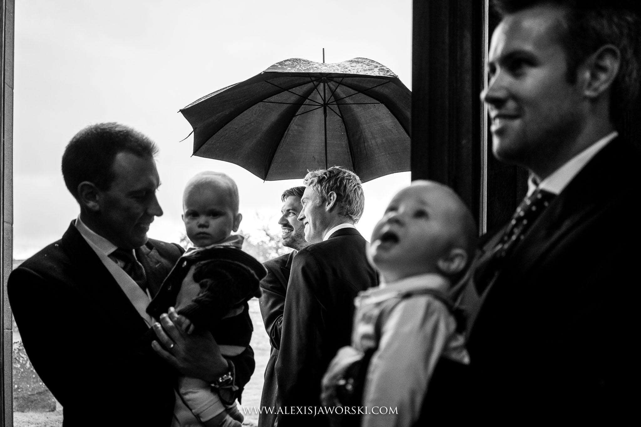 kids by the front door of church
