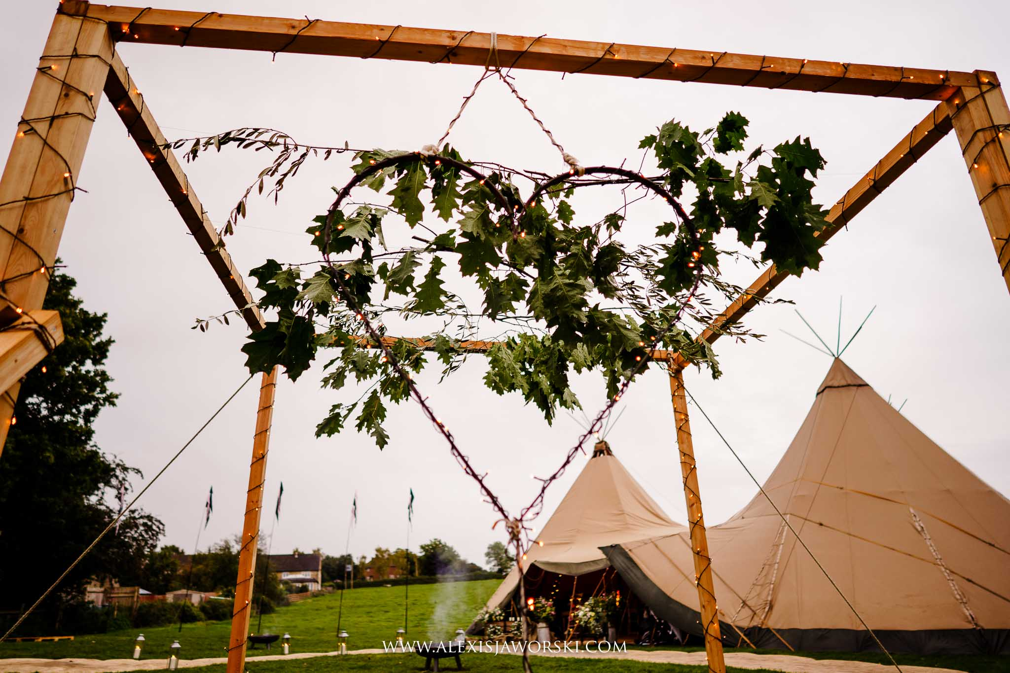 view of the teepee