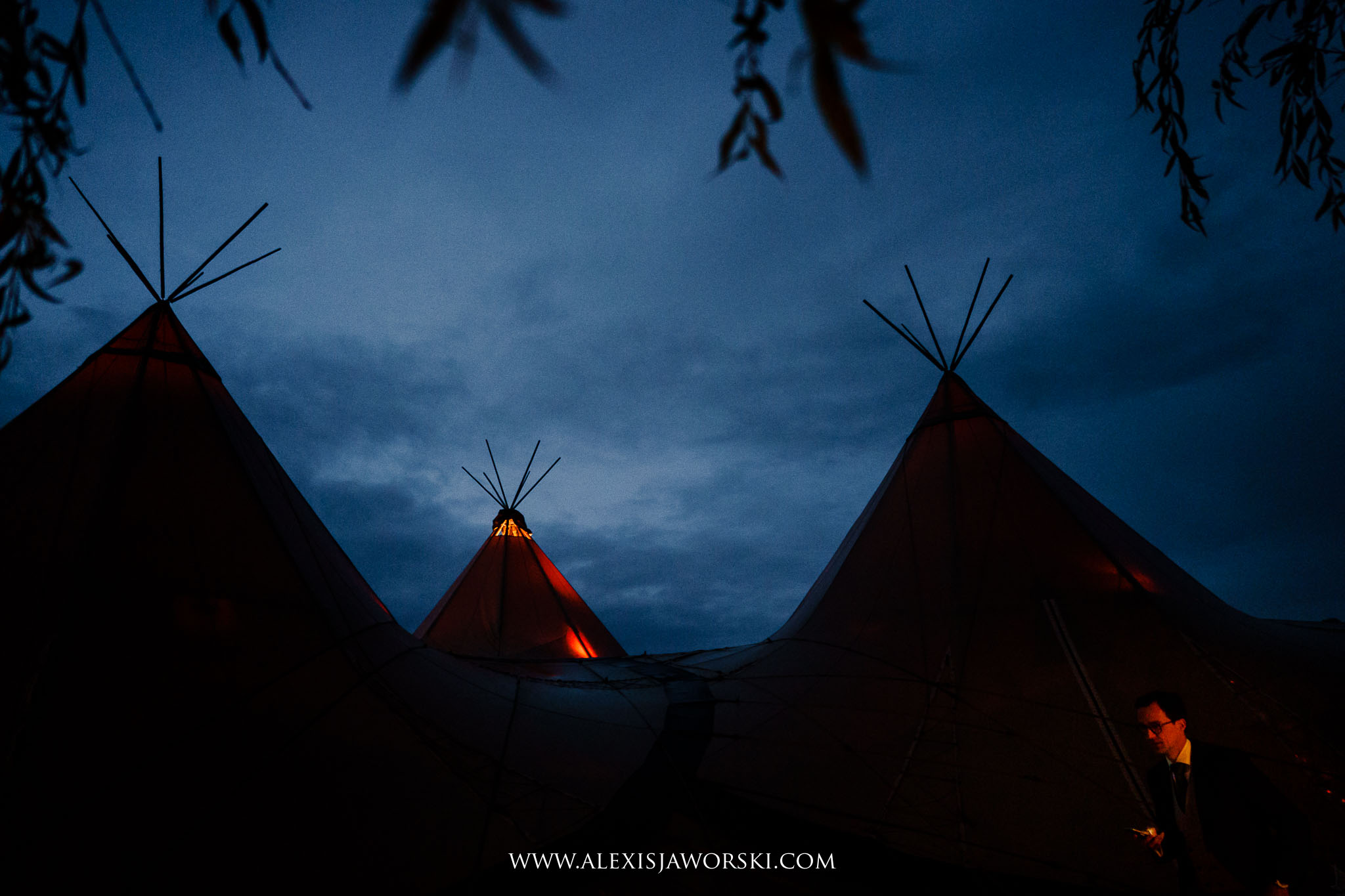 the teepee at night