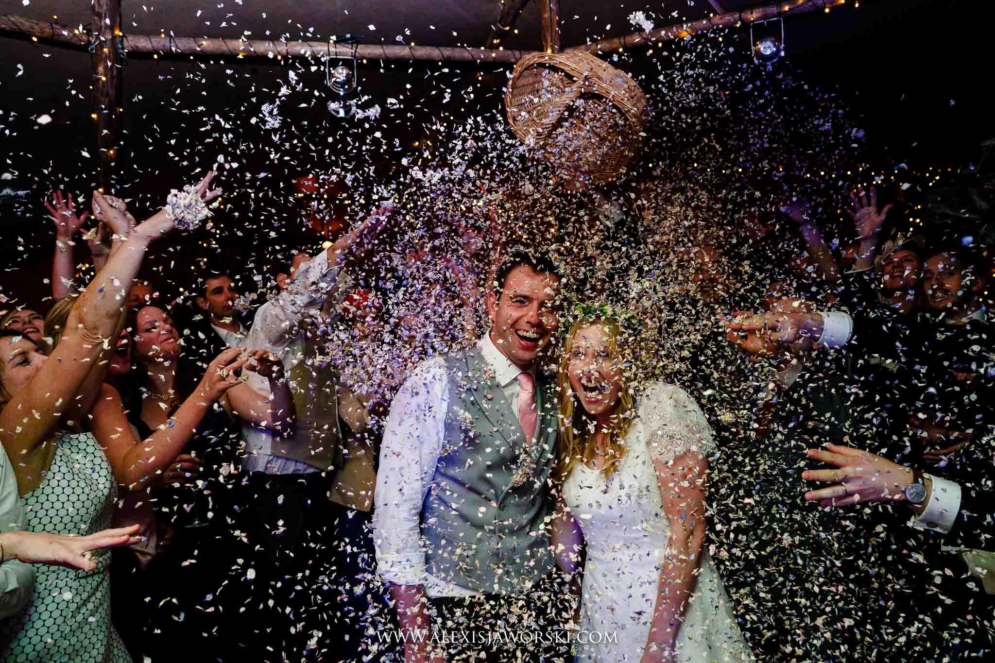 Confettis on dancefloor