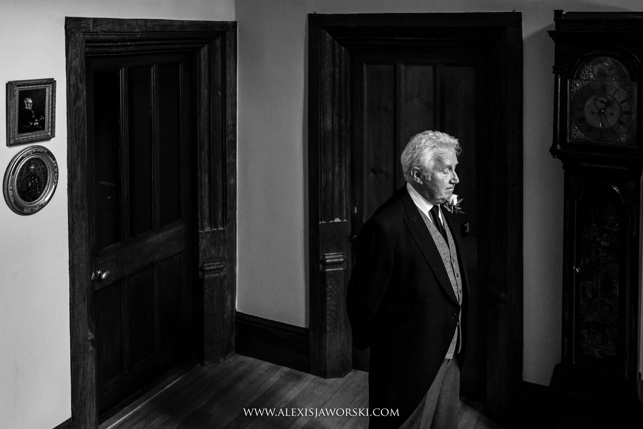 father waiting for bride