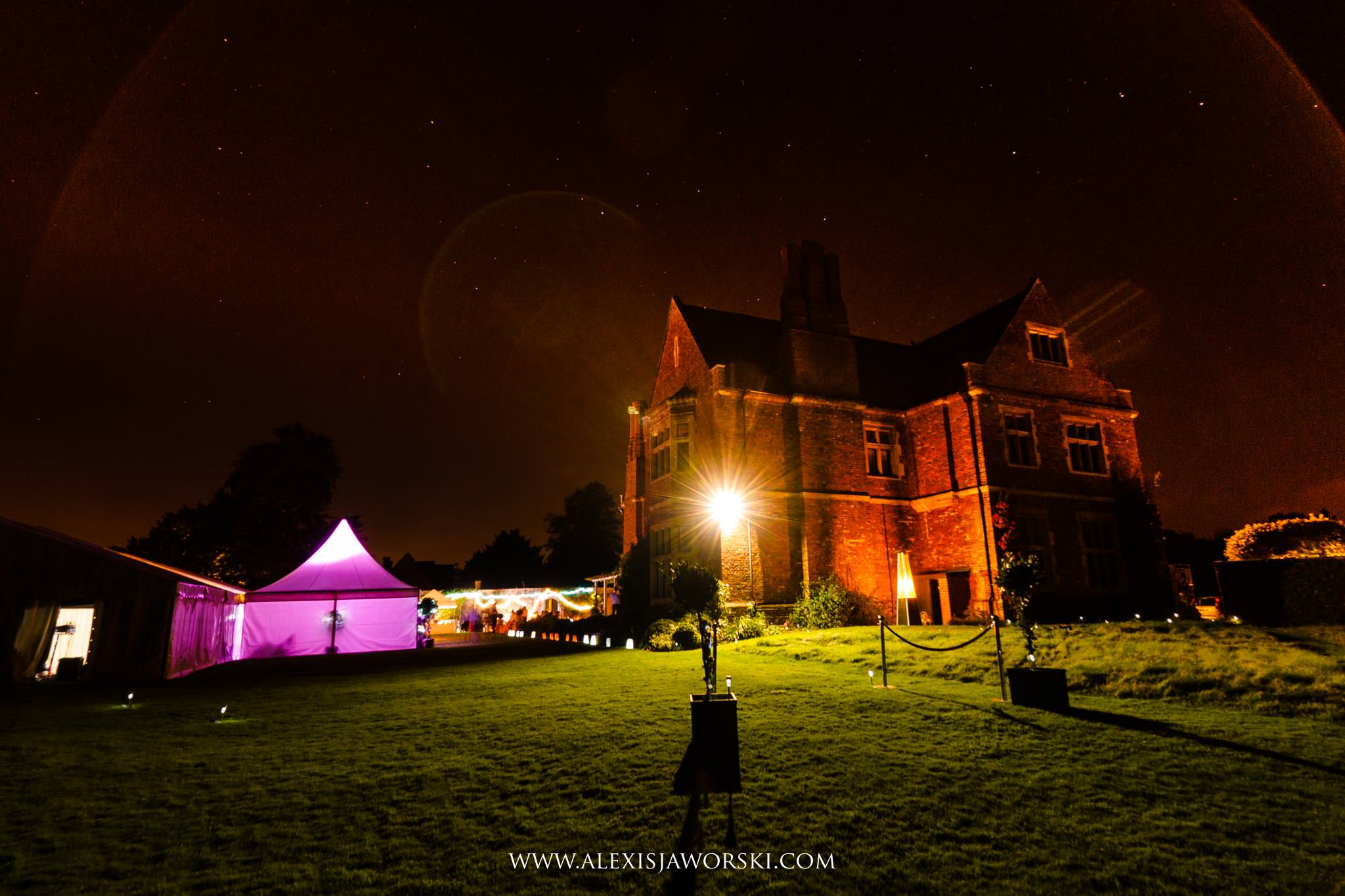 the venue at night