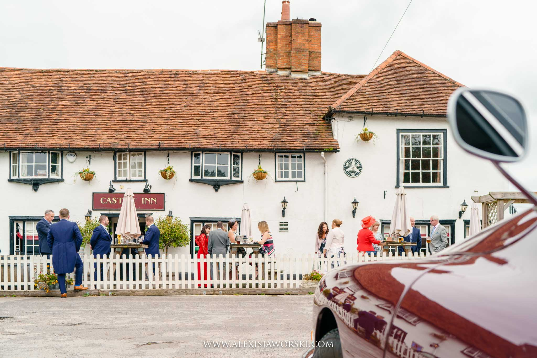guests having a drink at the pub