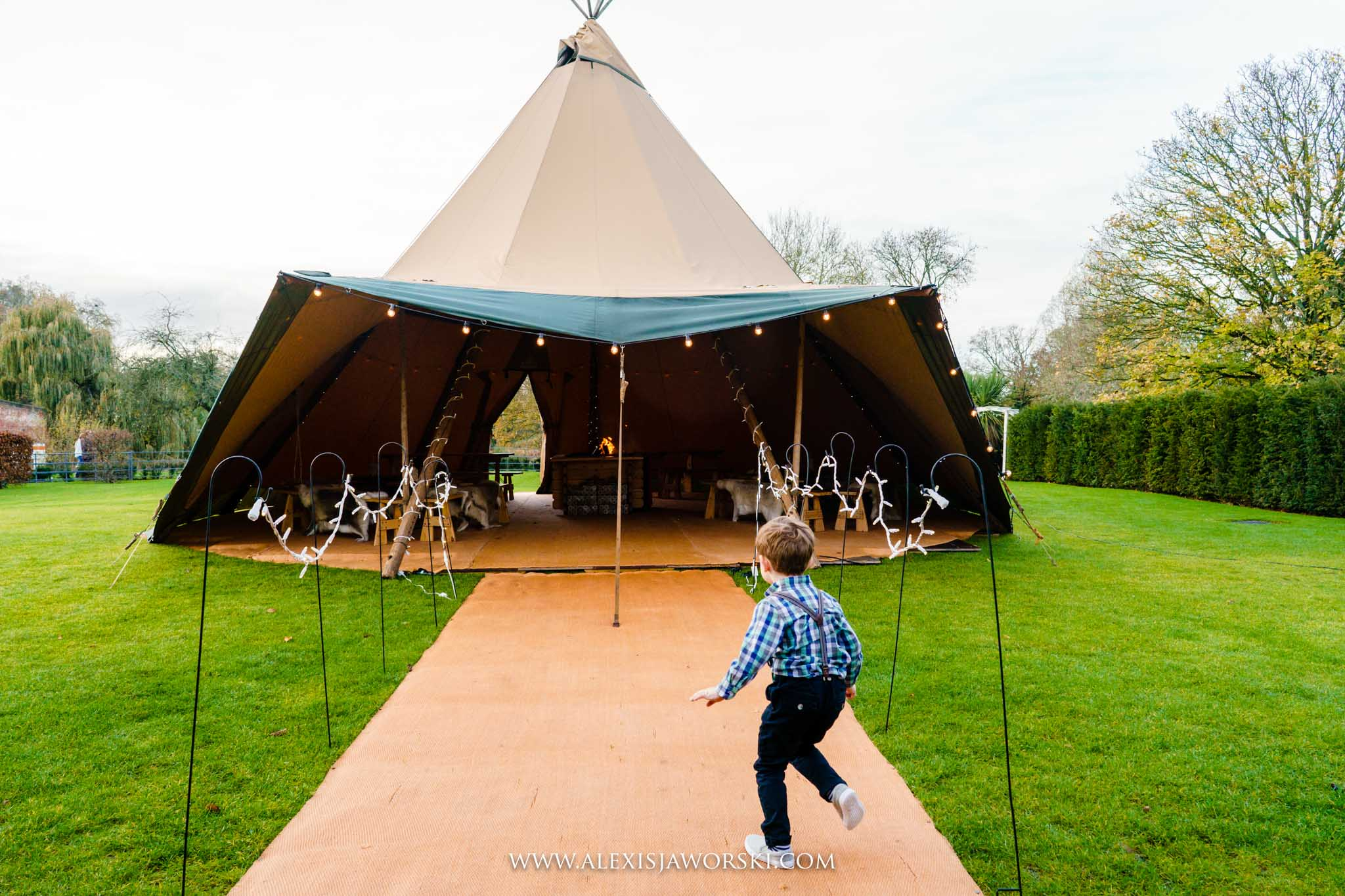 the tipi at the Great House