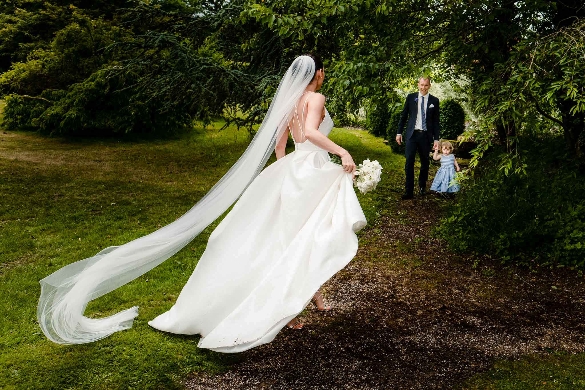 bride outside the church