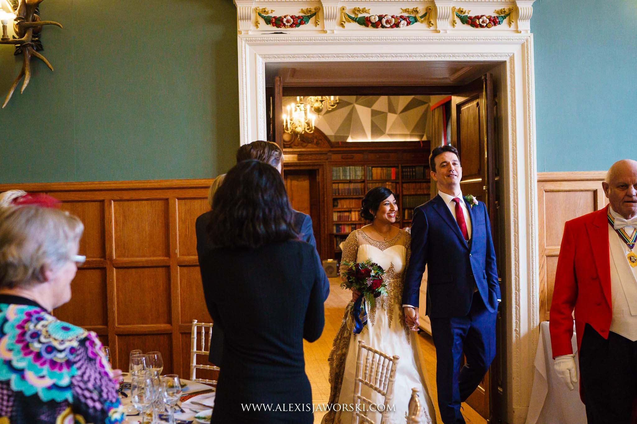 entering the wedding breakfast