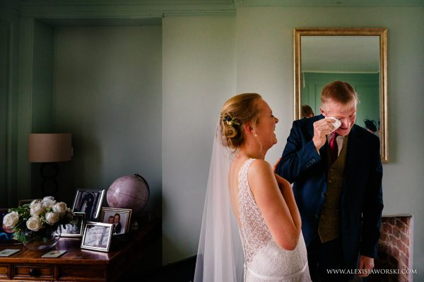 father emotional when seeing bride