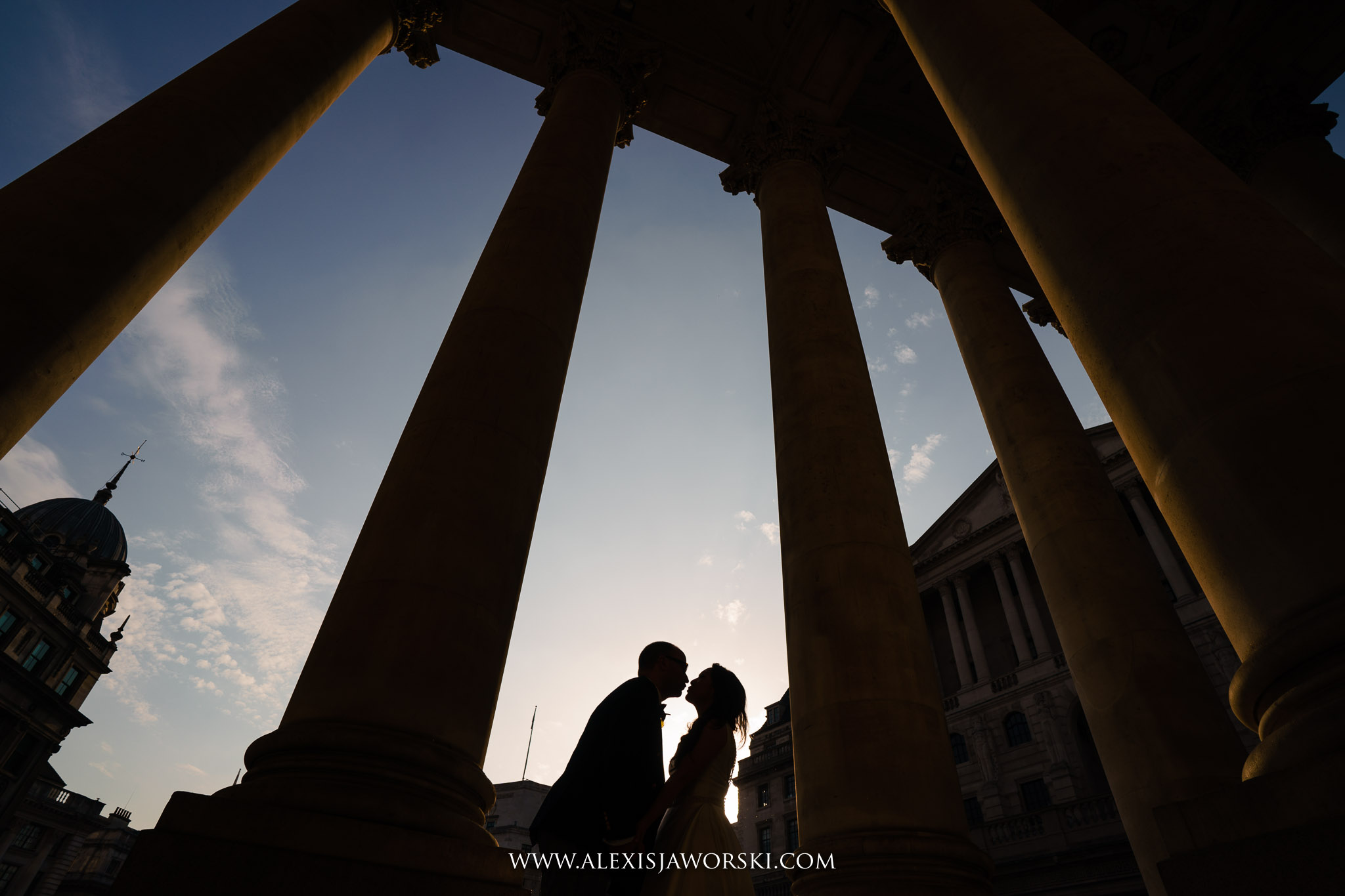 a silhouette at the royal stock exchange