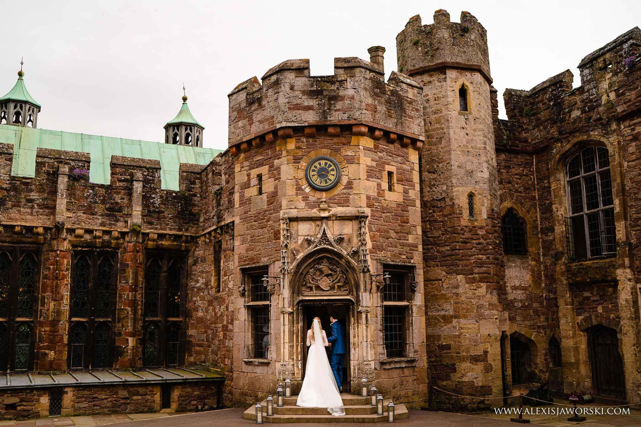 bride entering the castle