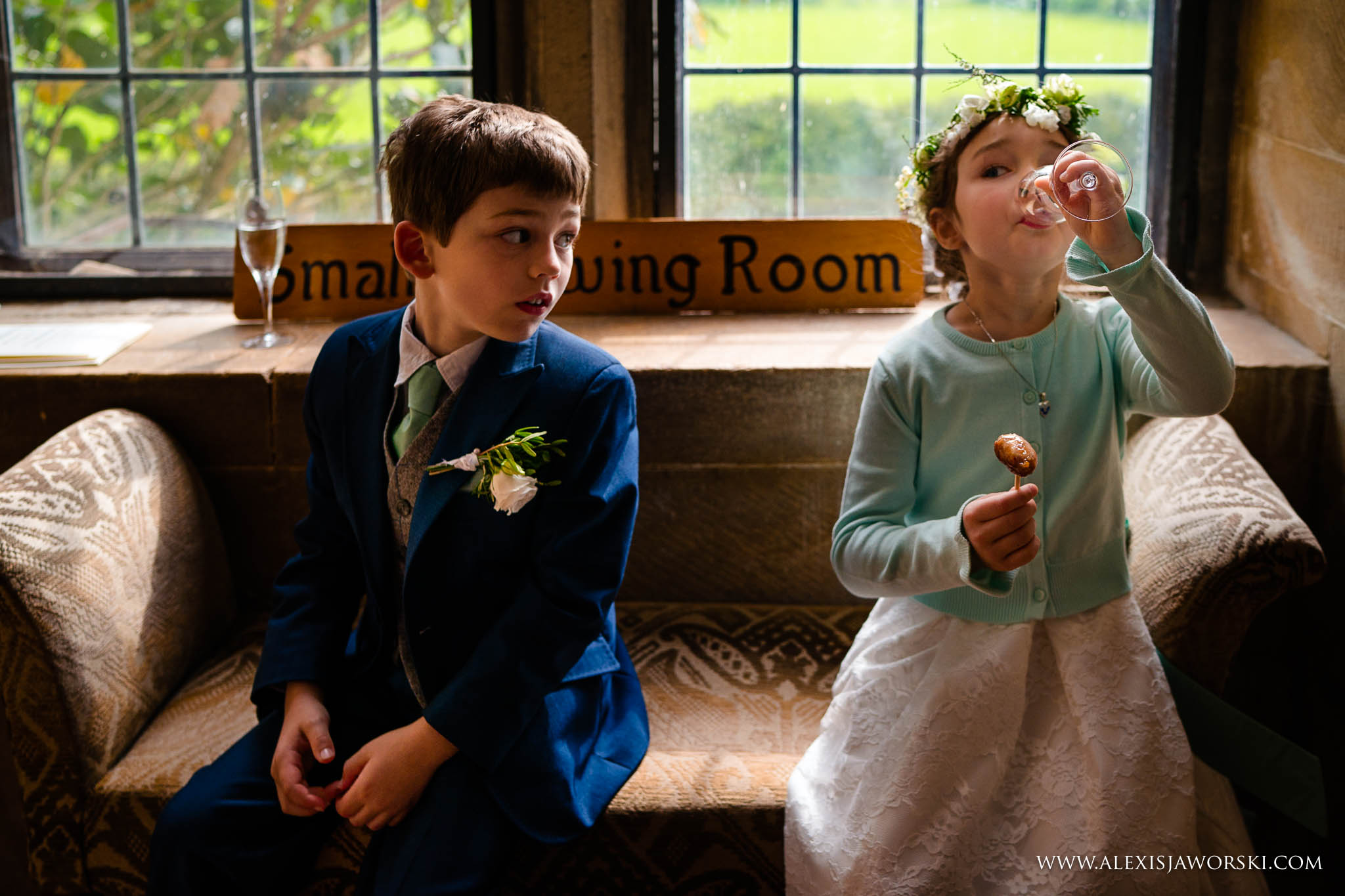 kids during the wedding recpetion