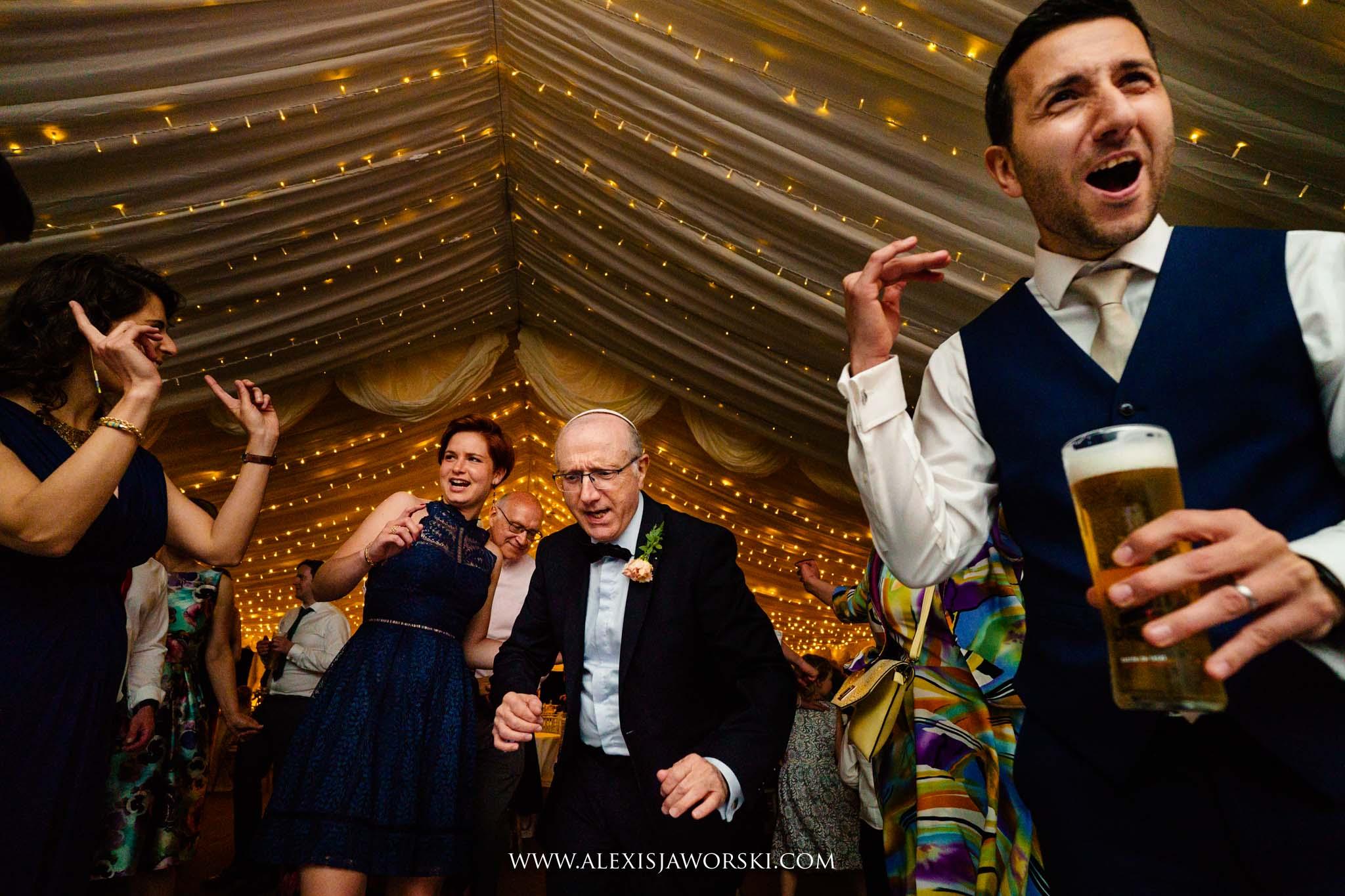 the wedding dancing