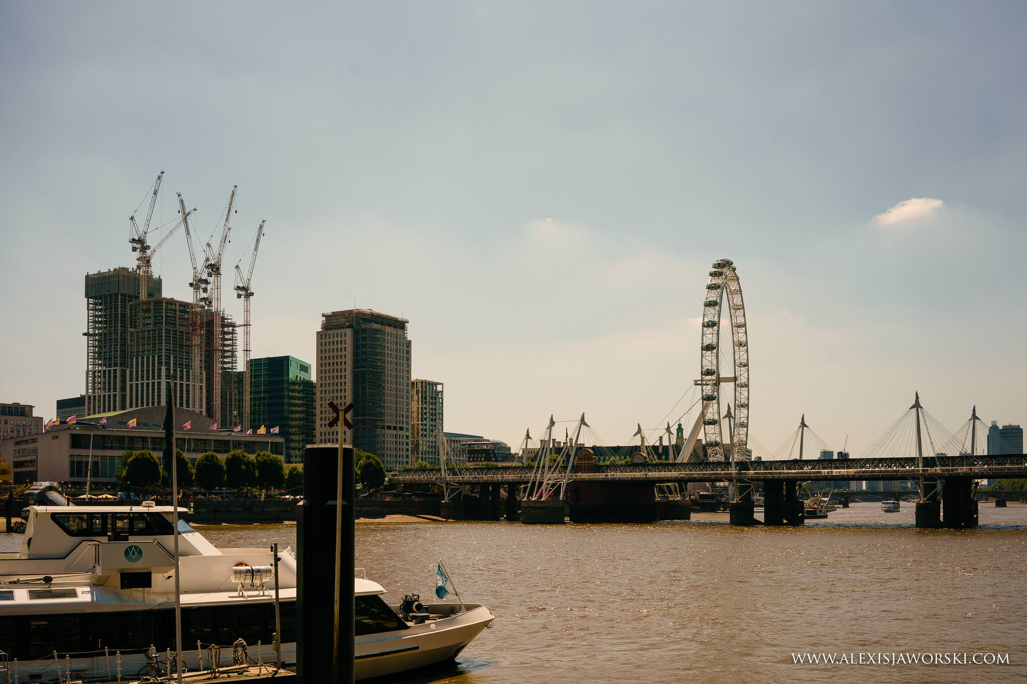 view from the Savoy Pier