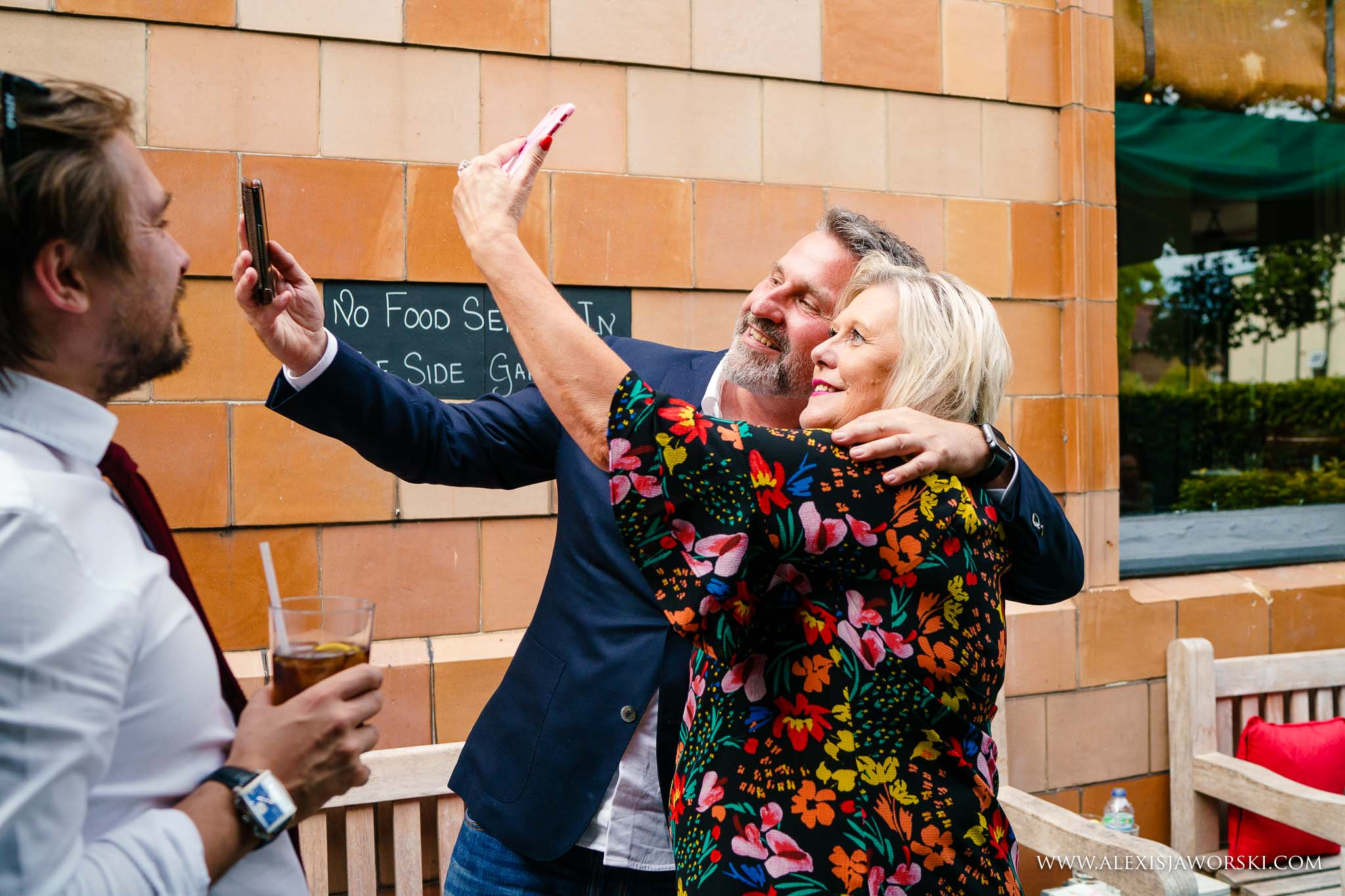 guests doing a selfie