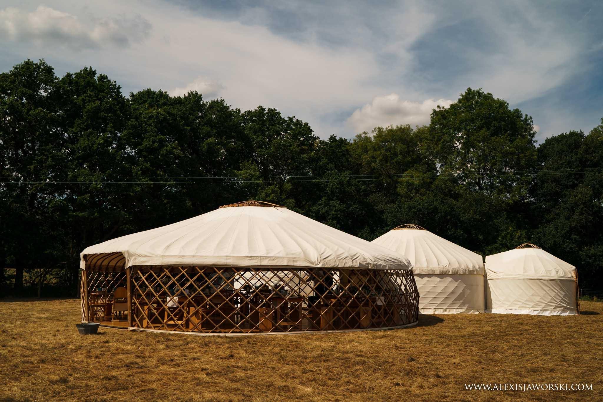 the wedding yurts