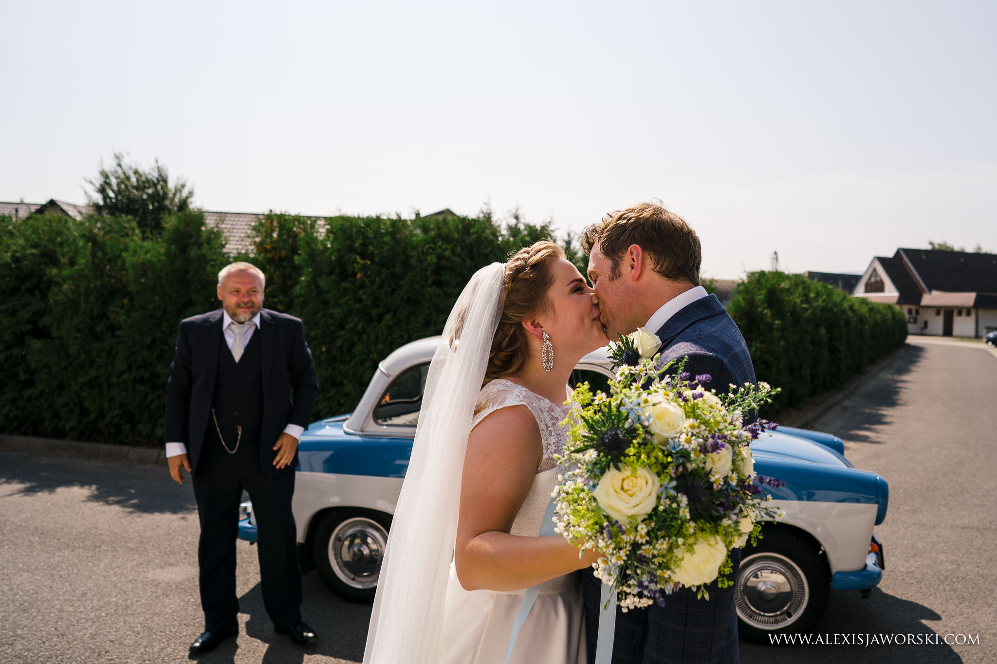 bride meeting groom